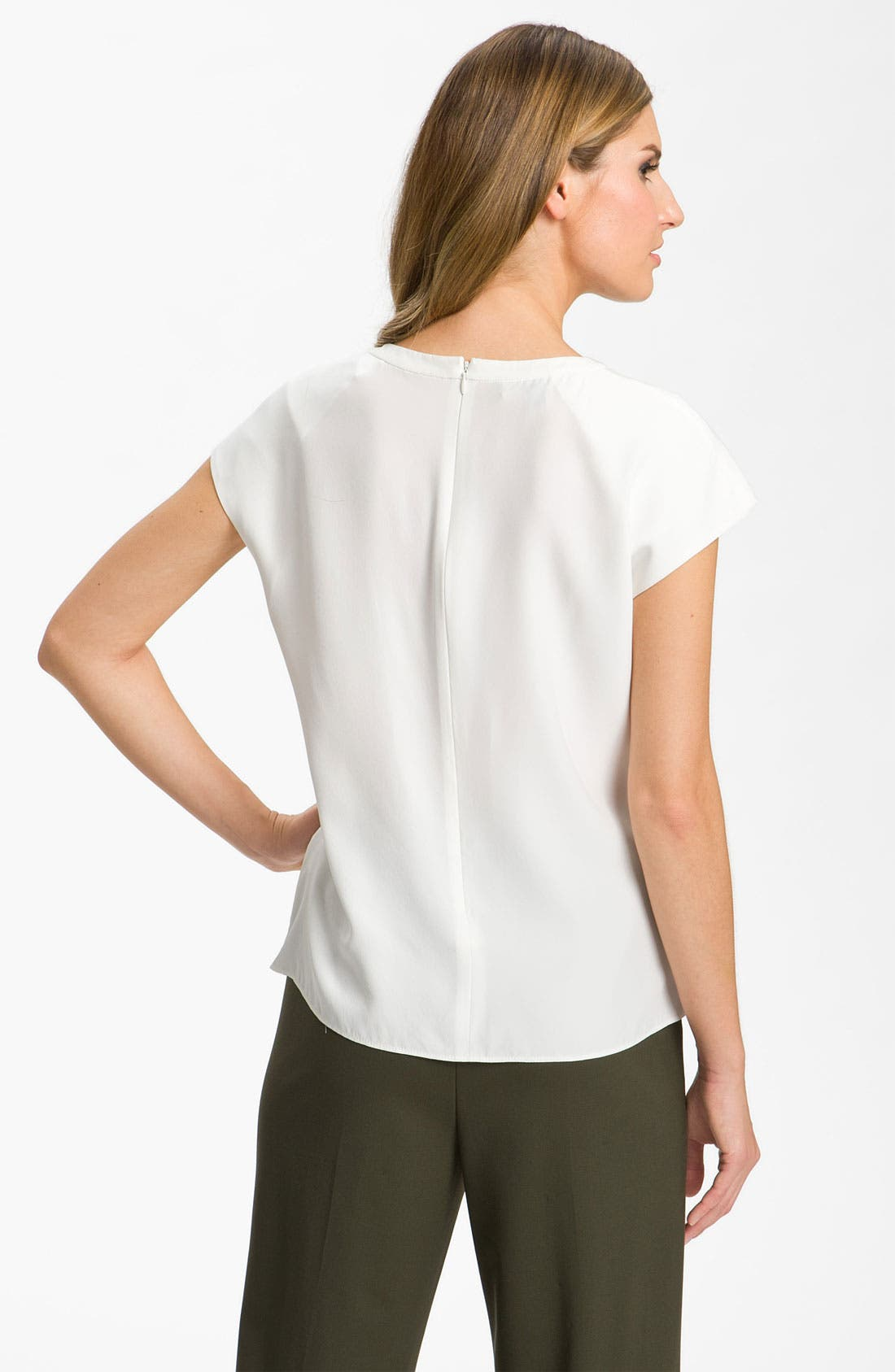 Alternate Image 2  - Lafayette 148 New York 'Posey' Silk Blouse