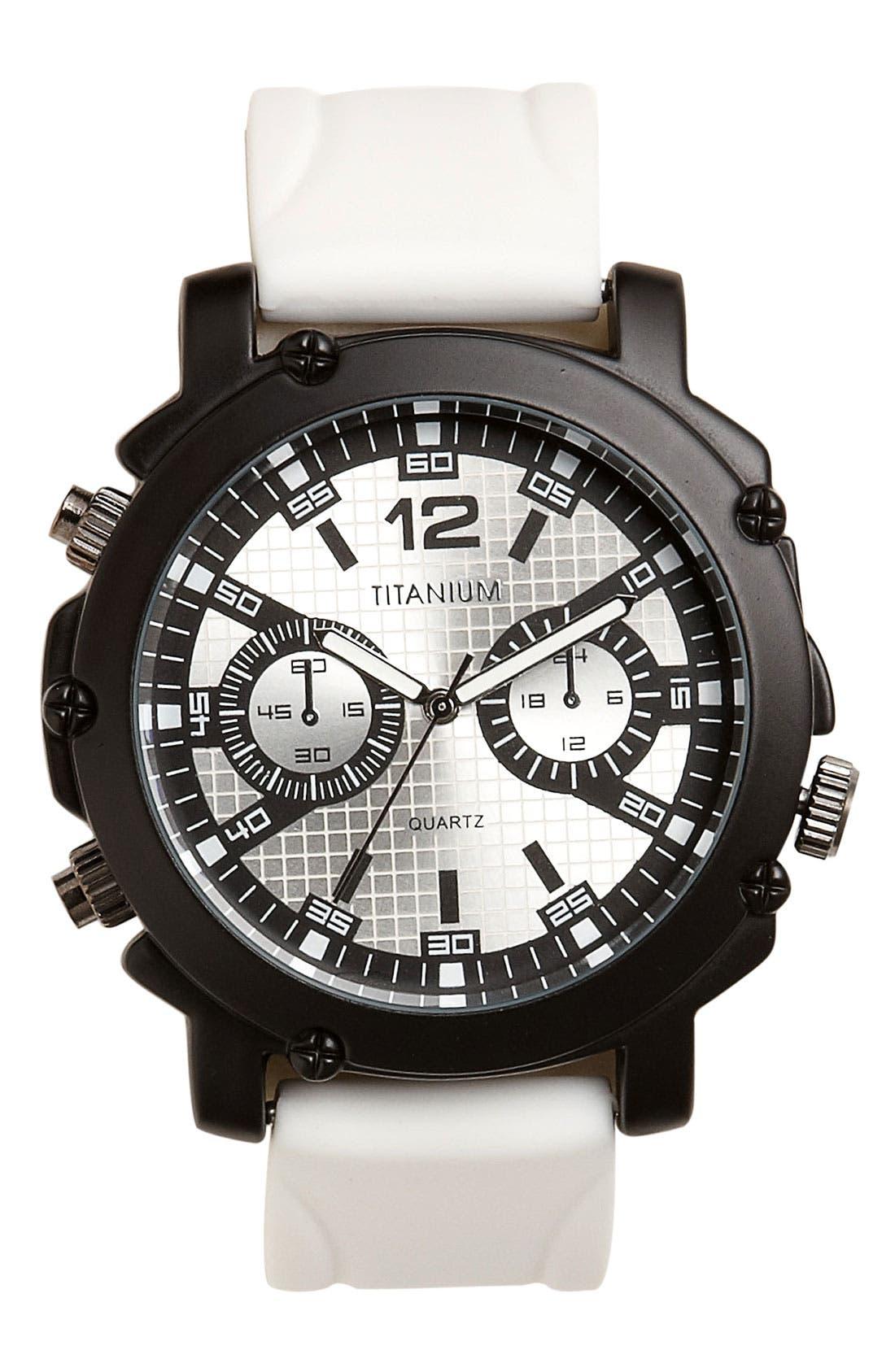 Main Image - Titanium Neon Marker Analog Watch, 50mm