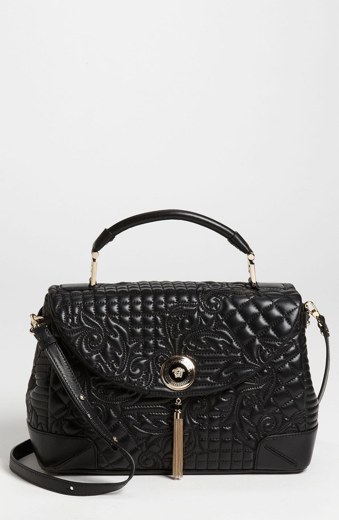 Main Image - Versace 'Vanitas' Embroidered Nappa Lambskin Leather Satchel