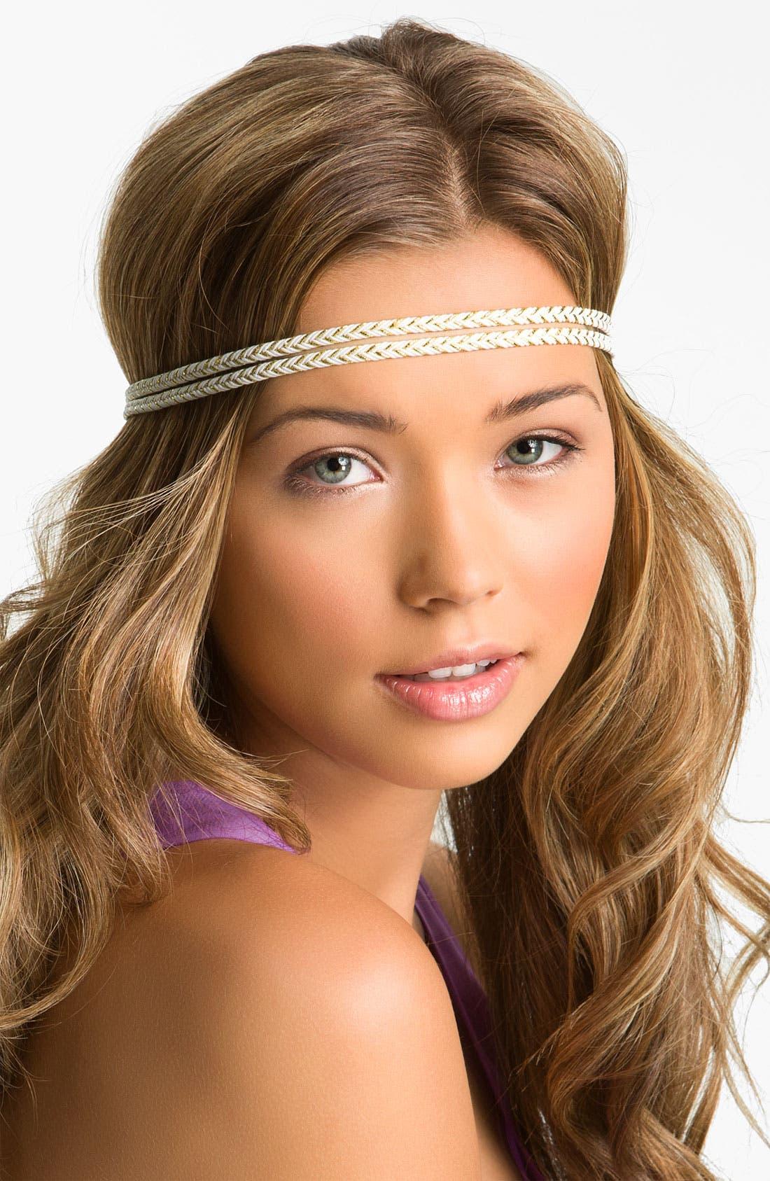 Main Image - Cachet Creations Metallic Braid Headband