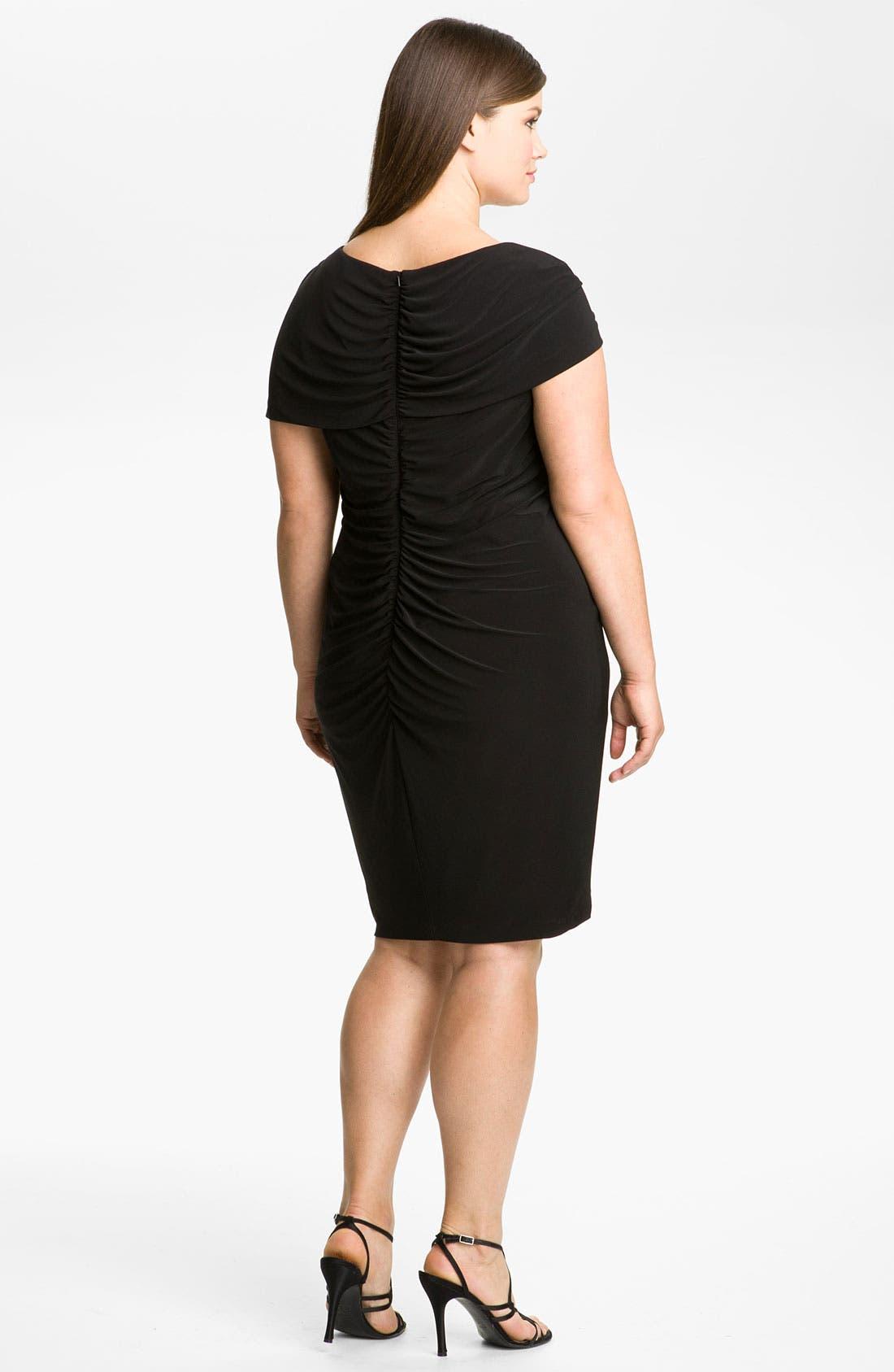 Alternate Image 2  - Alex & Eve Beaded Jersey Dress (Plus Size)