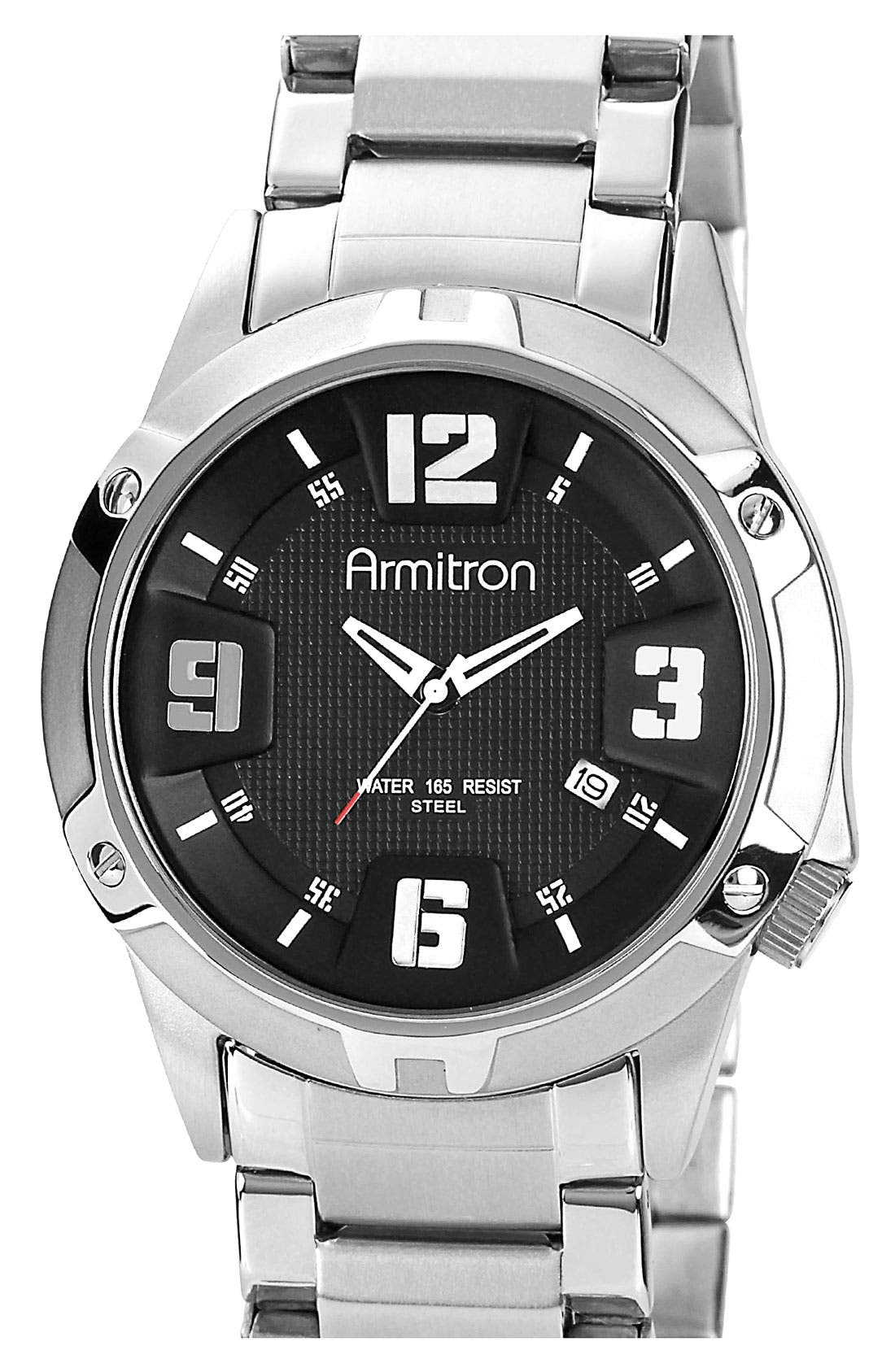 Alternate Image 1 Selected - Armitron Round Bracelet Watch, 42mm