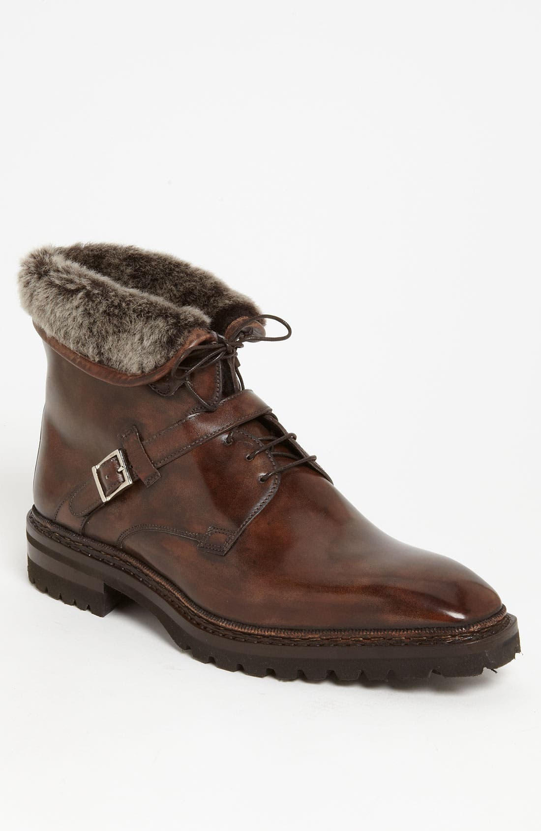 Alternate Image 1 Selected - Santoni 'Quirion' Genuine Shearling Trimmed Boot