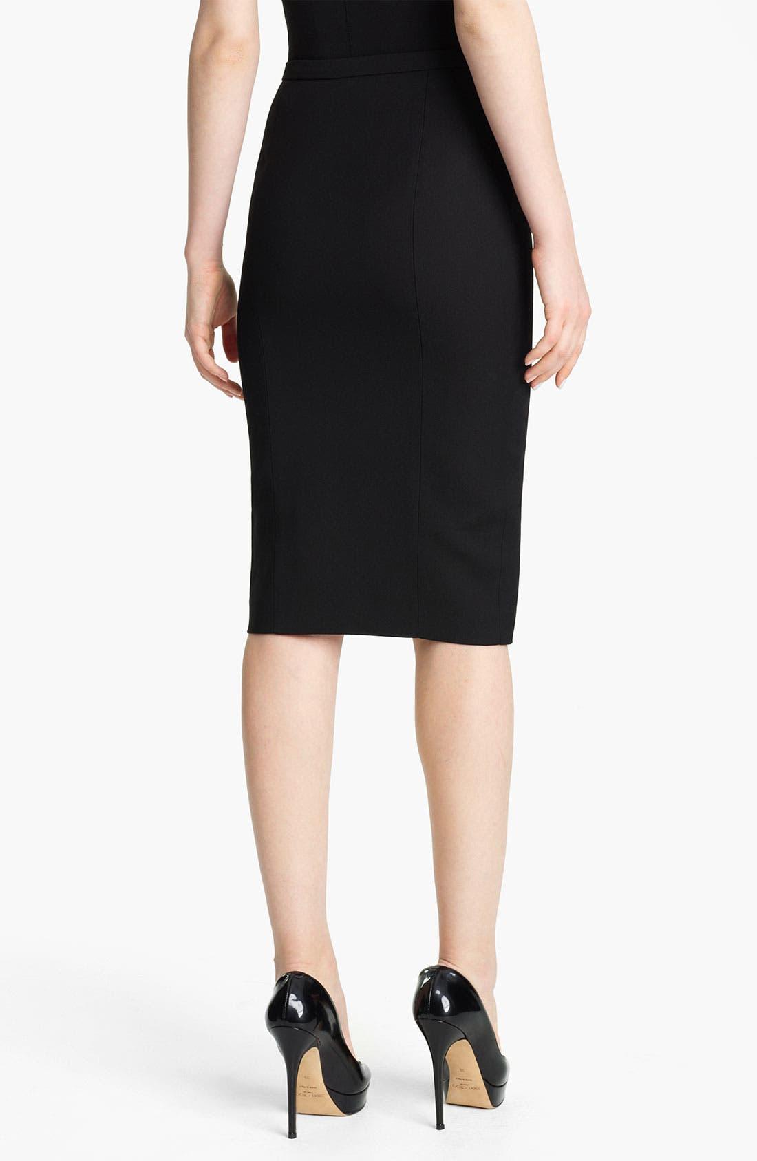 Alternate Image 2  - Emilio Pucci Wool & Silk Pencil Skirt