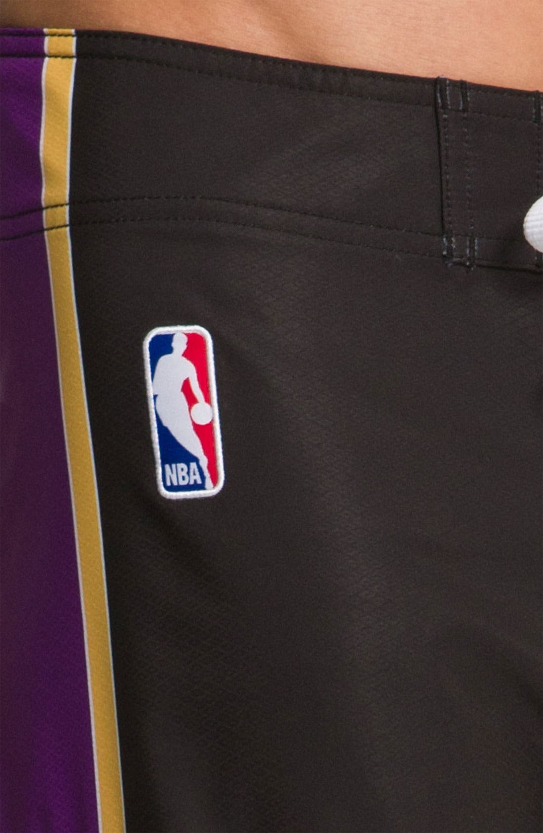 Alternate Image 3  - Quiksilver 'L.A. Lakers' Board Shorts