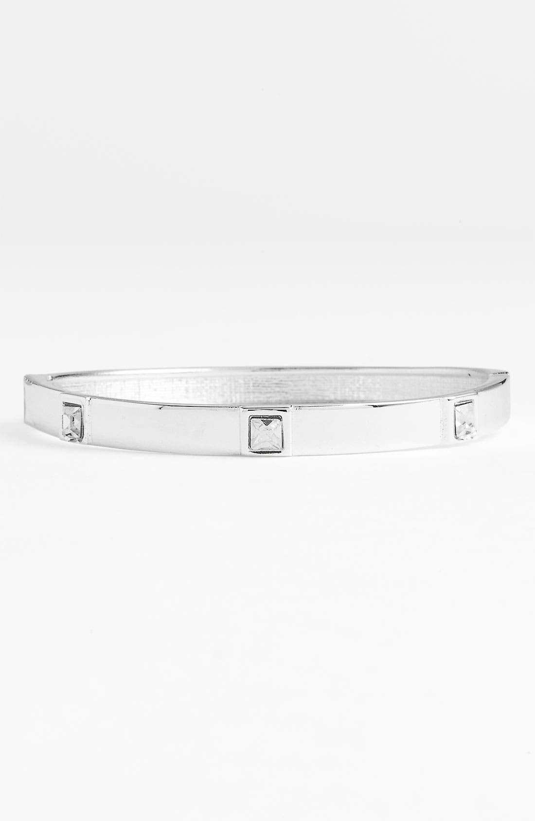 Alternate Image 1 Selected - Sequin Small Square Crystal Bangle