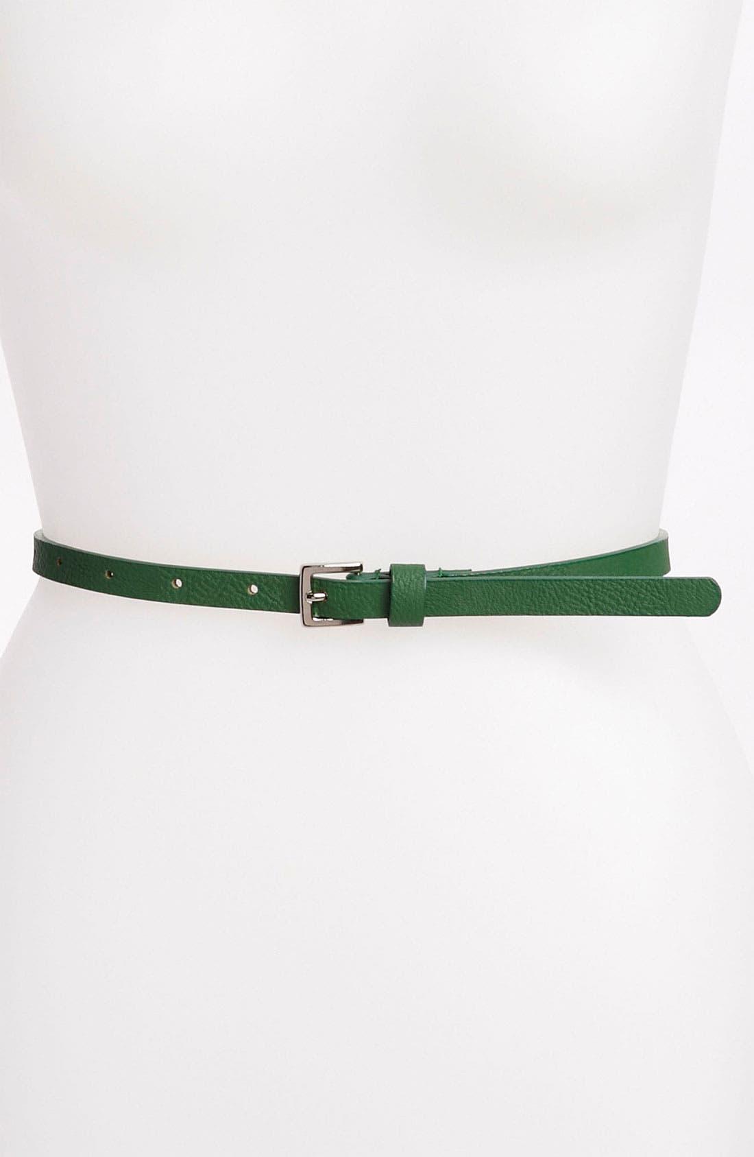 Main Image - Lulu Faux Leather Skinny Belt