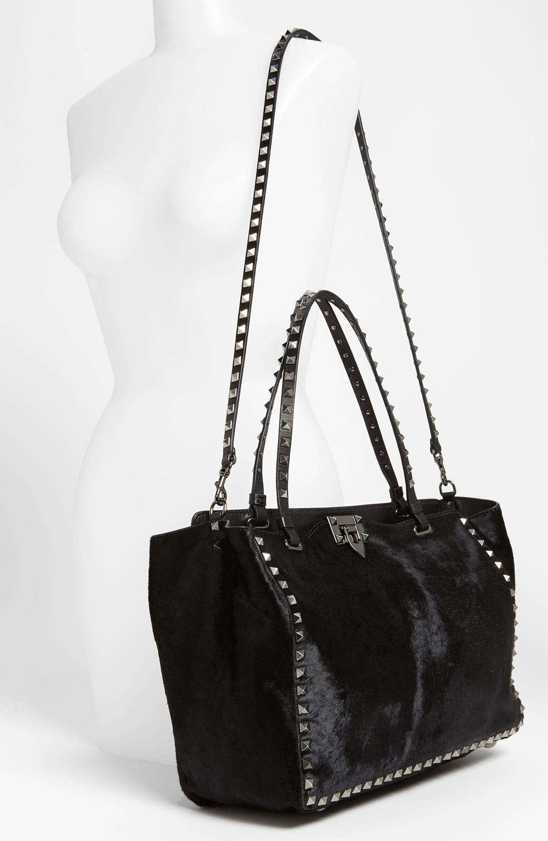 Alternate Image 2  - Valentino 'Rockstud - Noir' Calf Hair Shopper