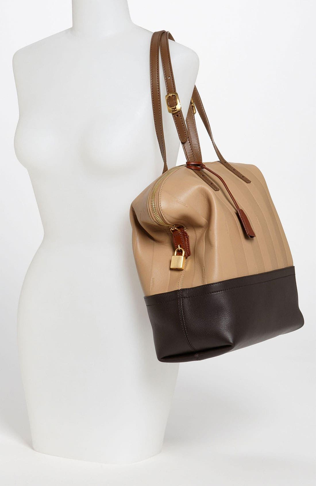 Alternate Image 2  - Fendi 'Paris Pequin - 2-Way' Leather Shopper