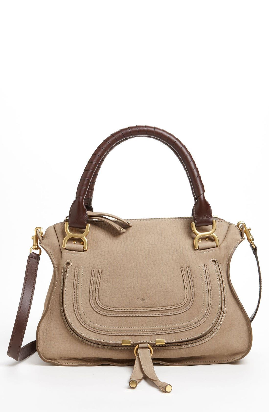 Main Image - Chloé 'Marcie -Small' Nubuck Leather Shoulder Bag