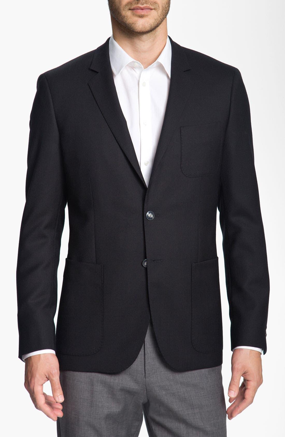 Alternate Image 1 Selected - BOSS Black 'Rover' Extra Trim Fit Blazer