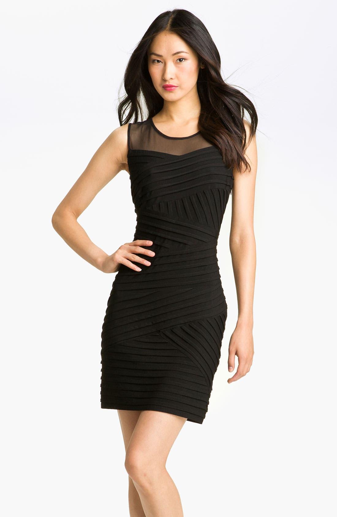 Alternate Image 1 Selected - Calvin Klein Illusion Yoke Pleated Jersey Dress