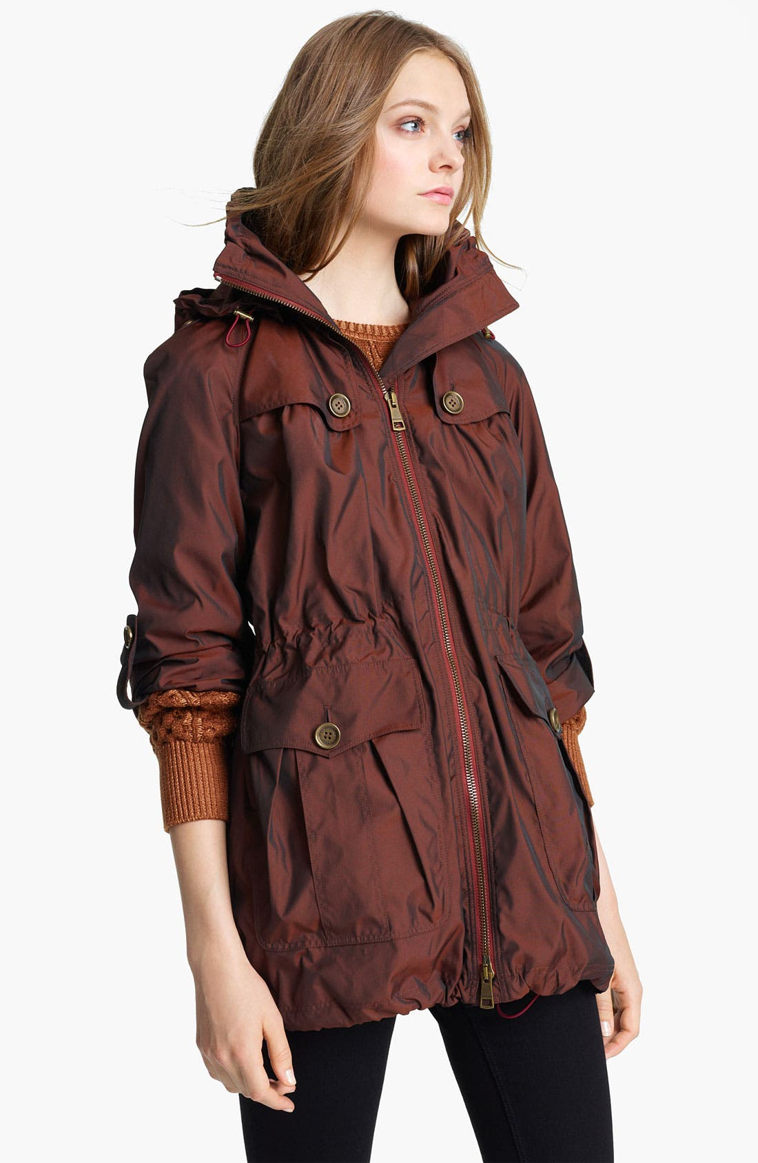 Alternate Image 1 Selected - Burberry Brit 'Brockley' Iridescent Anorak