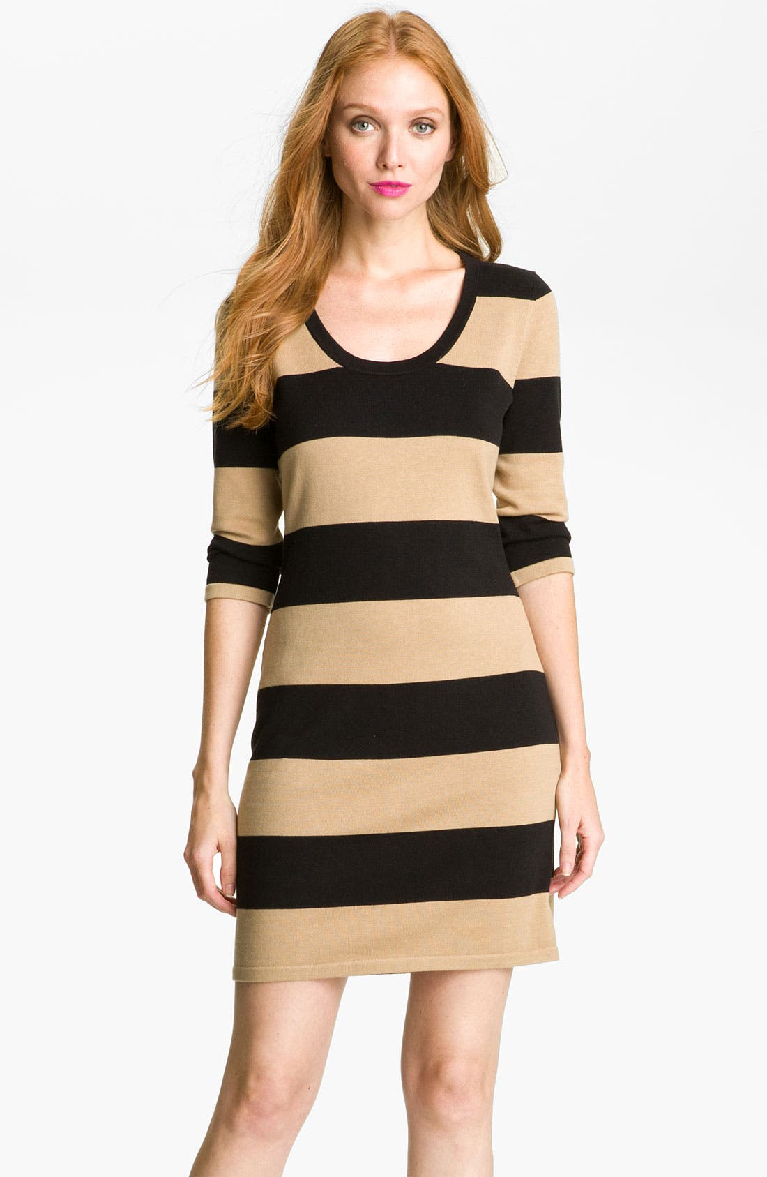 Main Image - Calvin Klein Stripe Knit Sweater Dress
