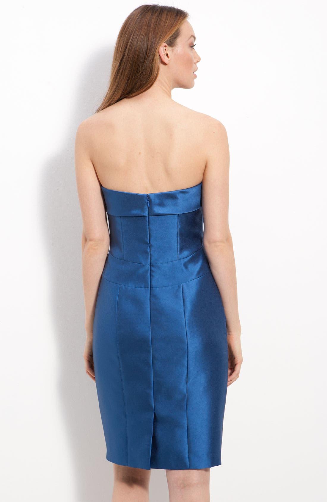 Alternate Image 2  - JS Collections Beaded Twill Strapless Sheath Dress & Jacket (Petite)