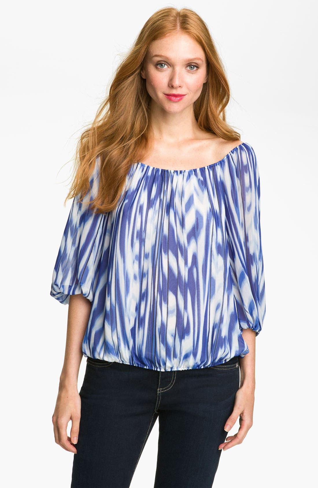 Alternate Image 1 Selected - Vince Camuto Peasant Blouse