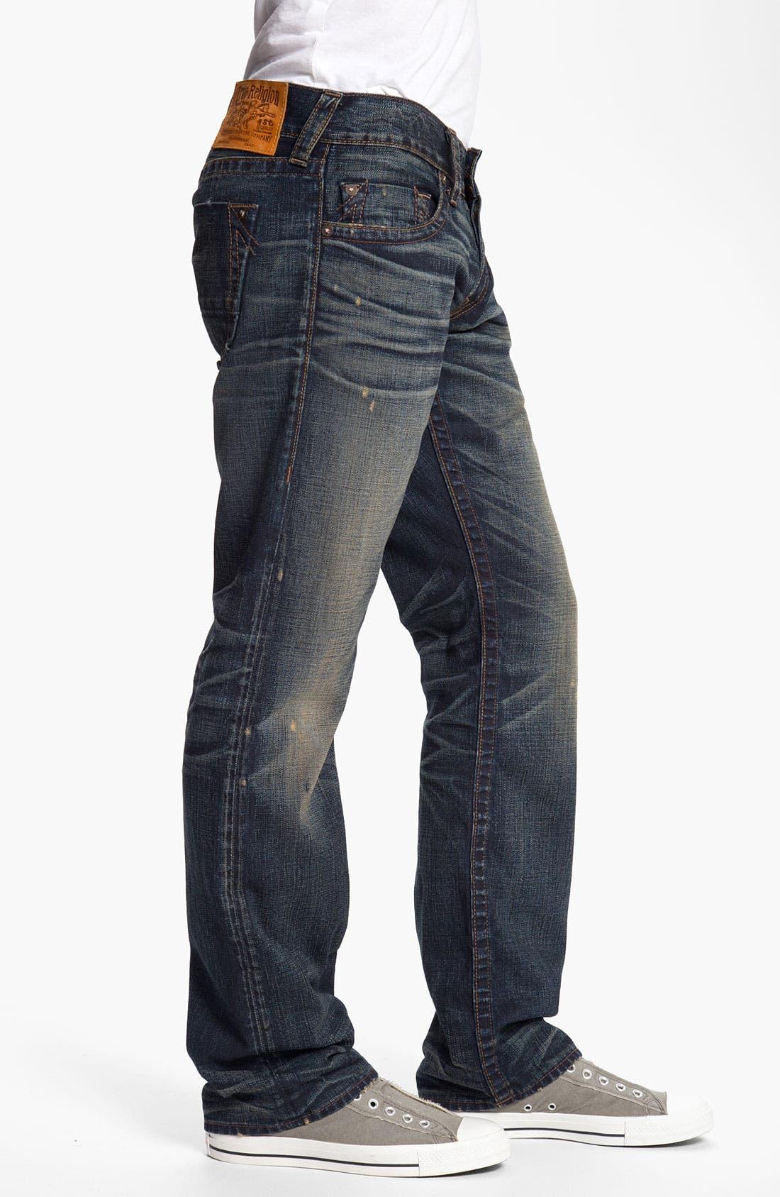 Alternate Image 3  - True Religion Brand Jeans 'Bobby' Straight Leg Jeans (Snyper)