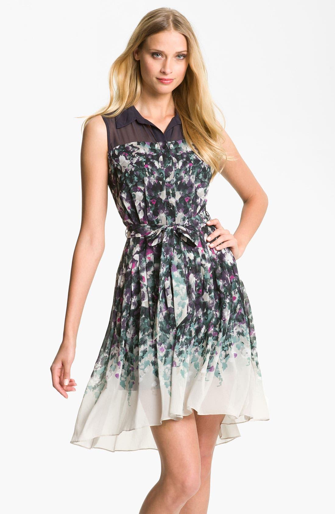Main Image - Suzi Chin for Maggy Boutique Collared Illusion Yoke Dress
