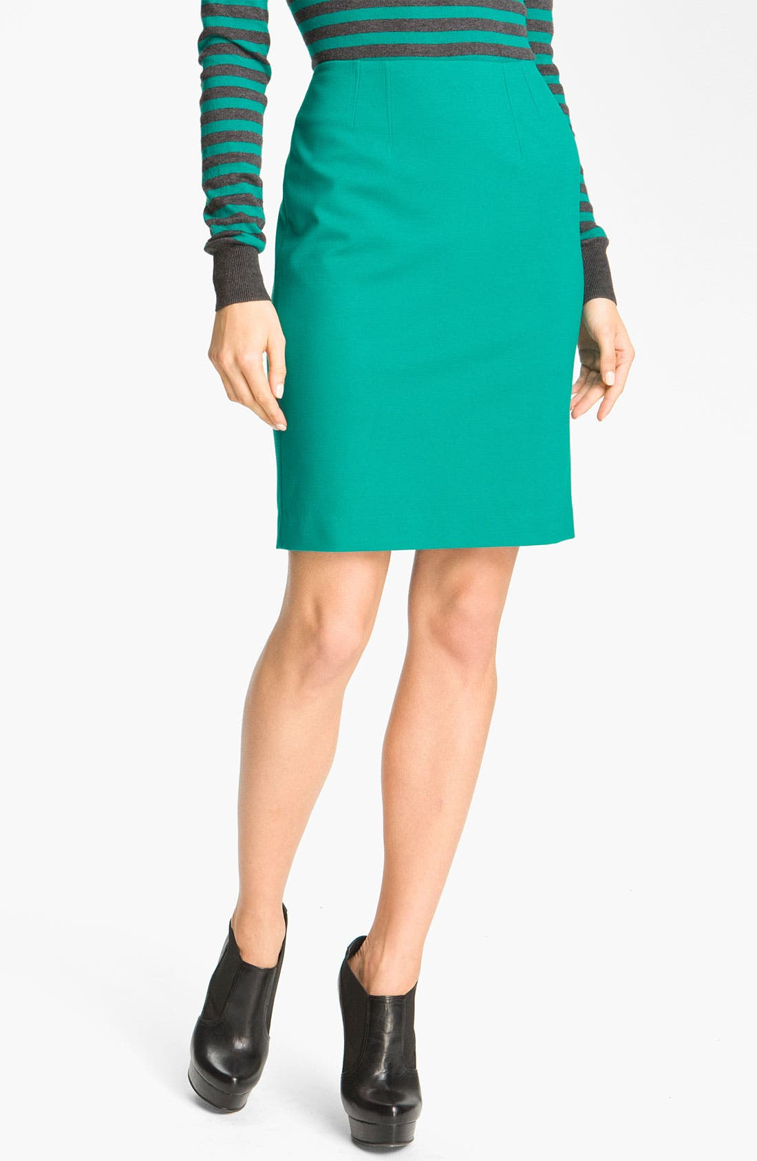 Alternate Image 1 Selected - Halogen Crew Neck Sweater and Pencil Skirt