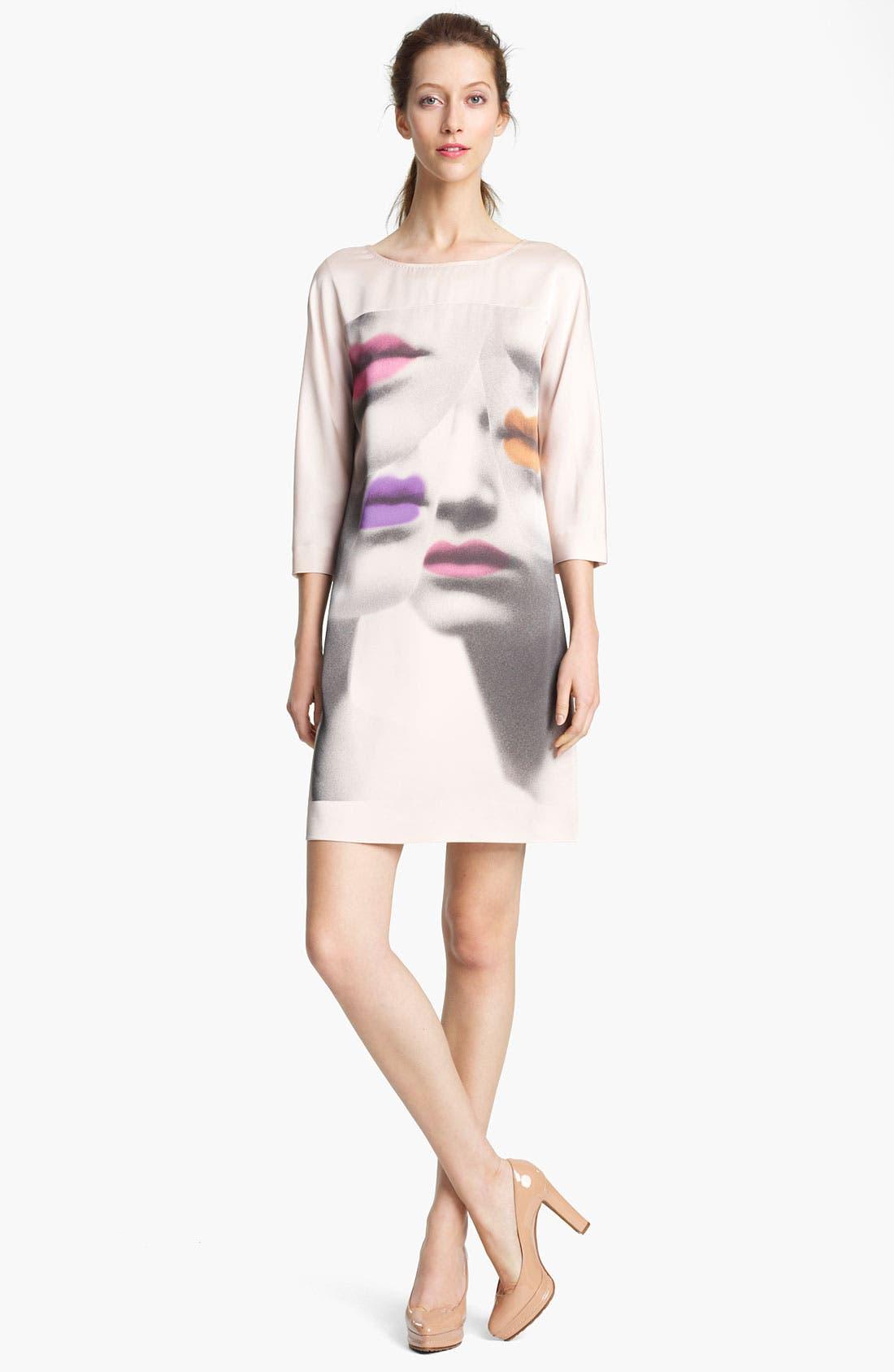 Main Image - Moschino Cheap & Chic Print Silk Dress
