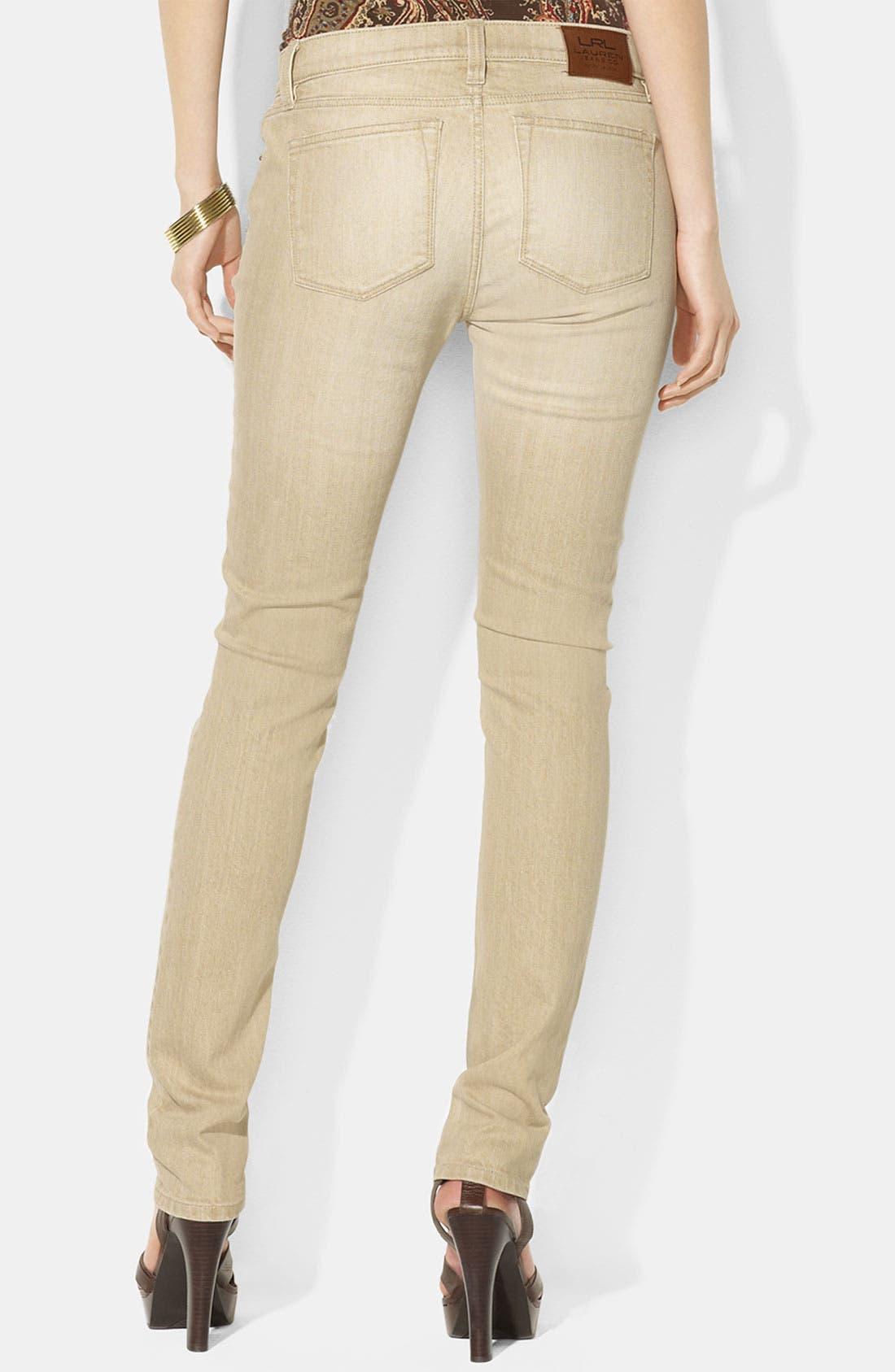 Alternate Image 2  - Lauren Ralph Lauren Skinny Jeans (Petite)