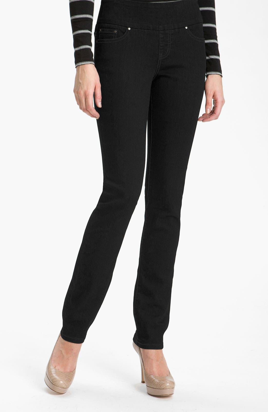 Alternate Image 1 Selected - Jag Jeans 'Malia' Slim Leg Stretch Jeans (Petite)
