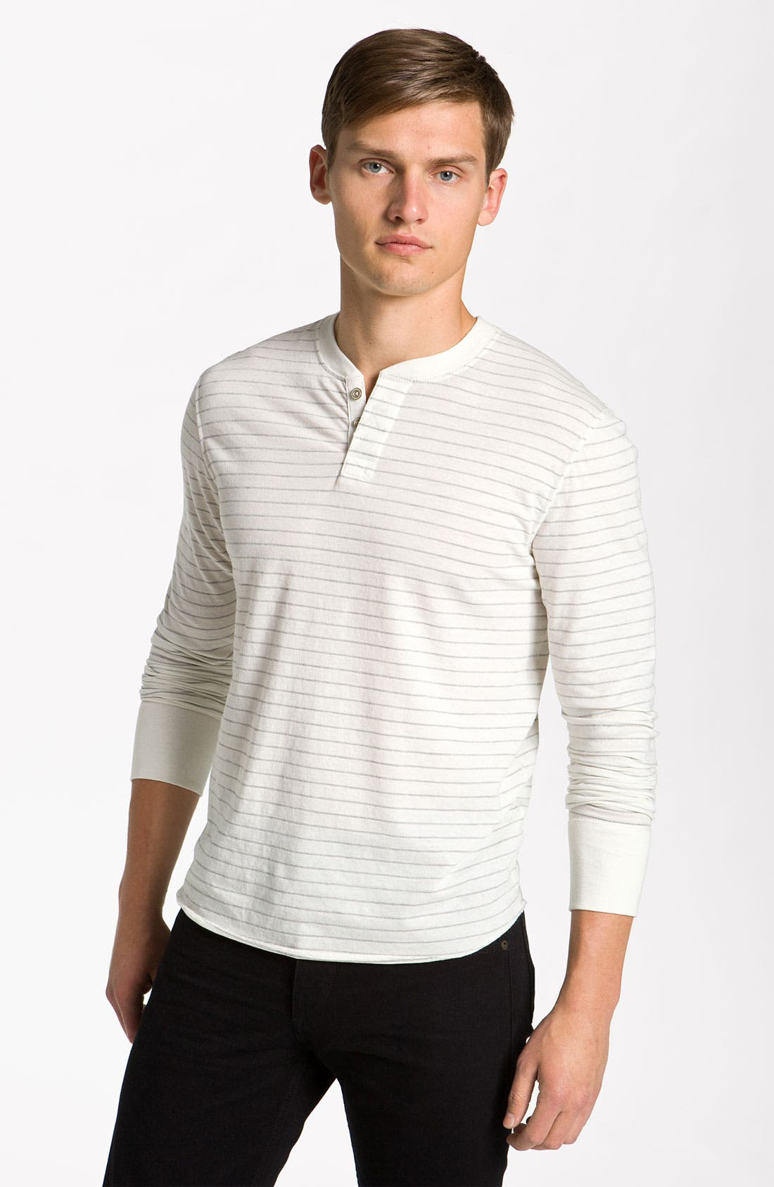 Main Image - rag & bone Stripe Long Sleeve Henley