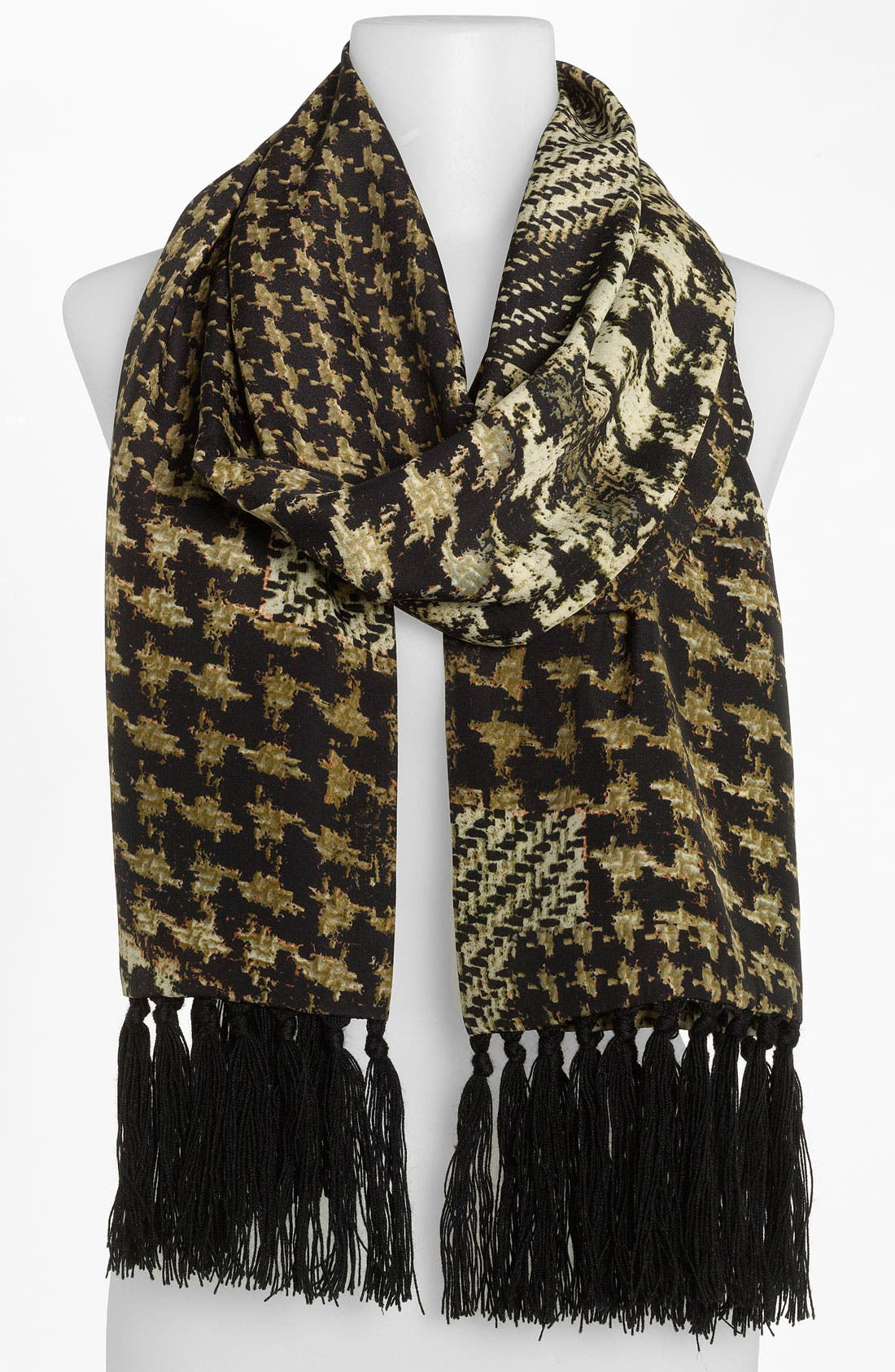 Main Image - Echo Houndstooth Patchwork Scarf