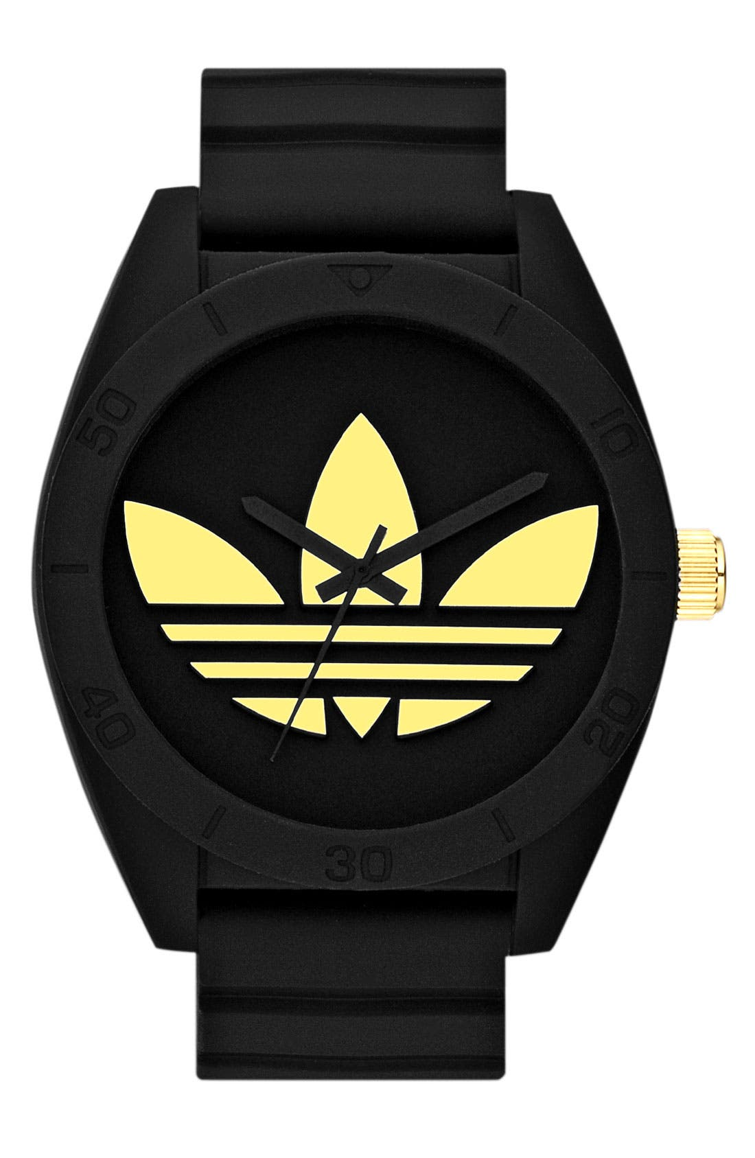 Alternate Image 1 Selected - adidas Originals 'Santiago XL' Silicone Strap Watch, 50mm