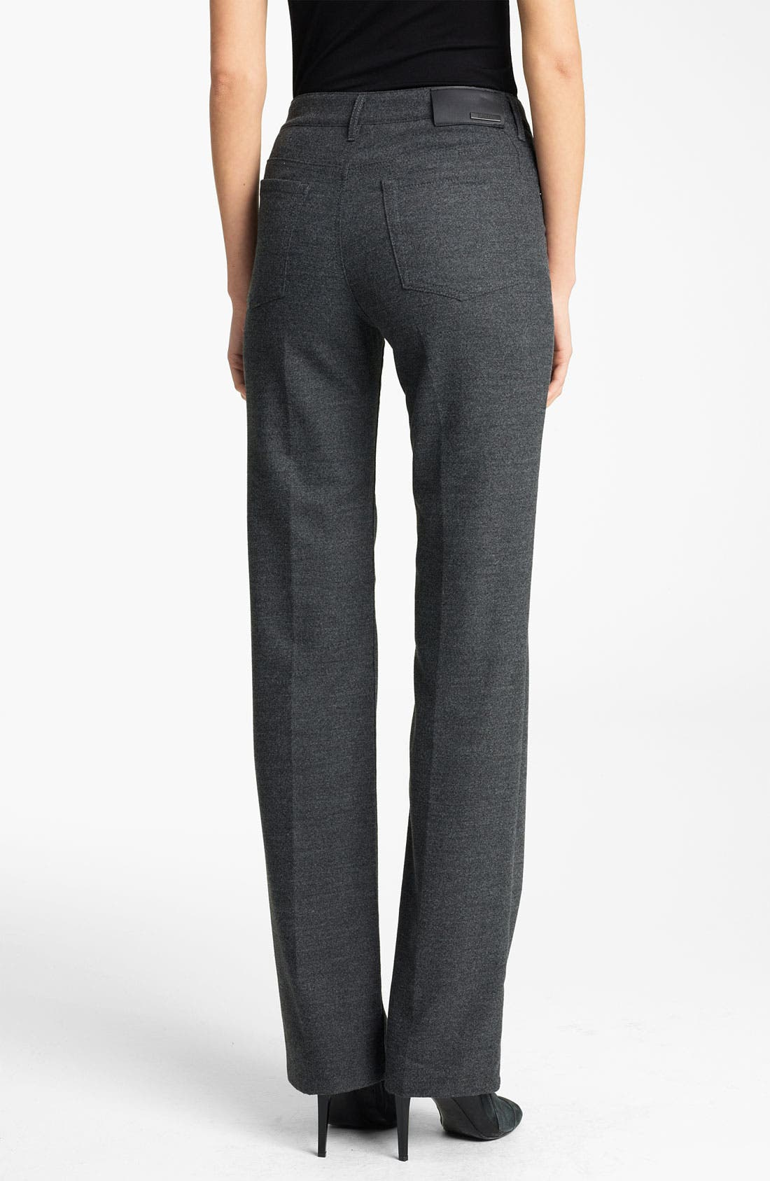 Alternate Image 2  - Armani Collezioni 5-Pocket Stretch Wool Pants