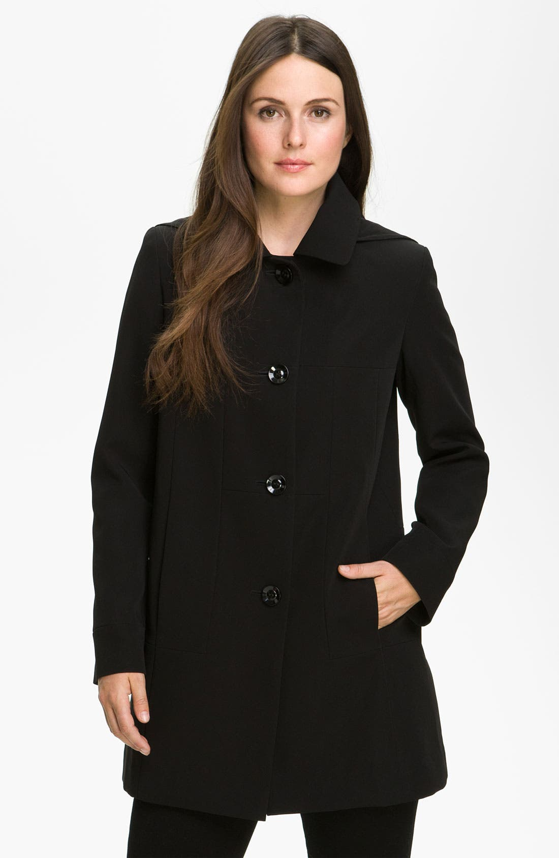 Main Image - Gallery Club Collar Coat with Detachable Hood & Liner