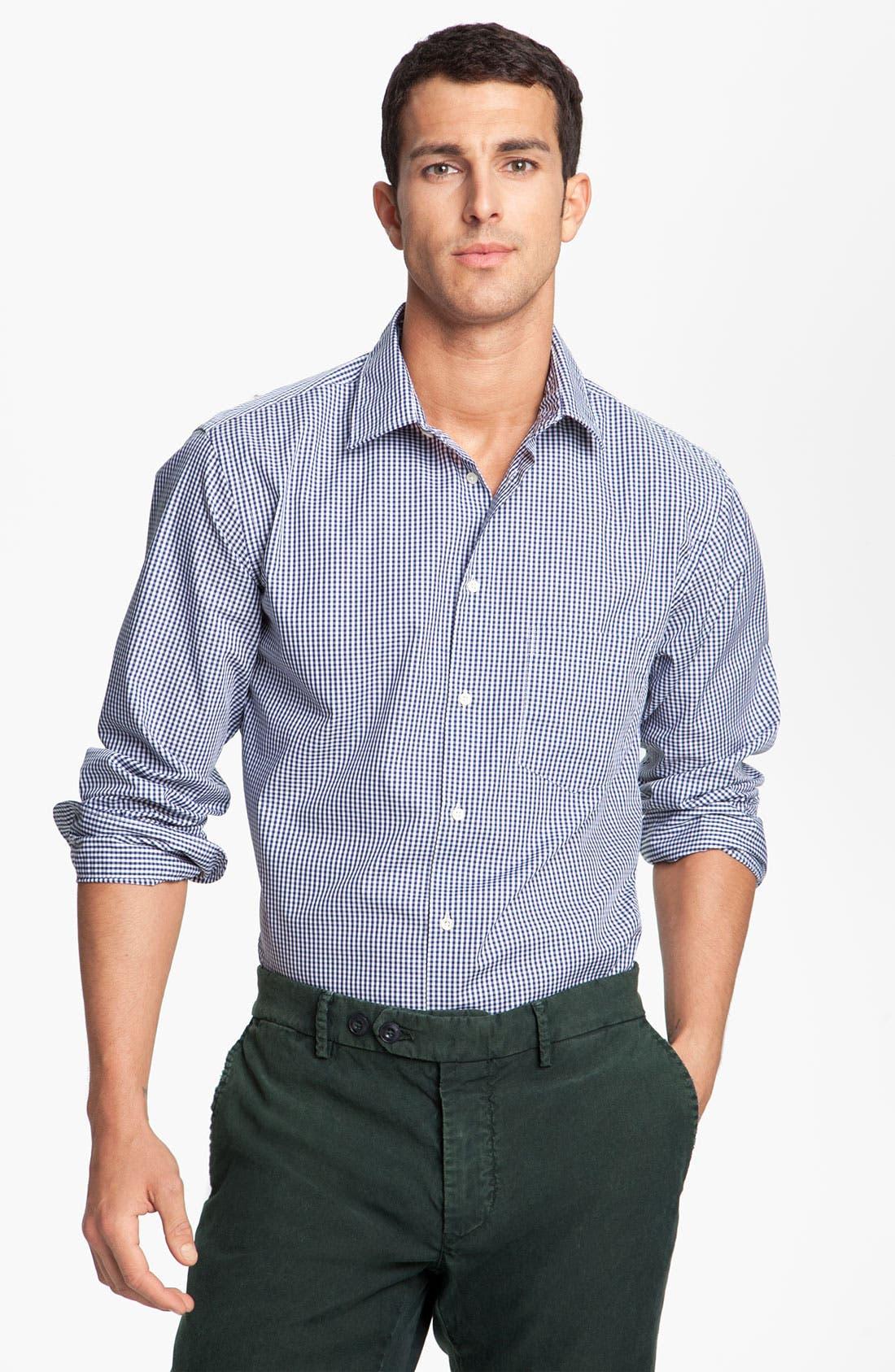 Main Image - Mason's Micro Gingham Cotton Shirt