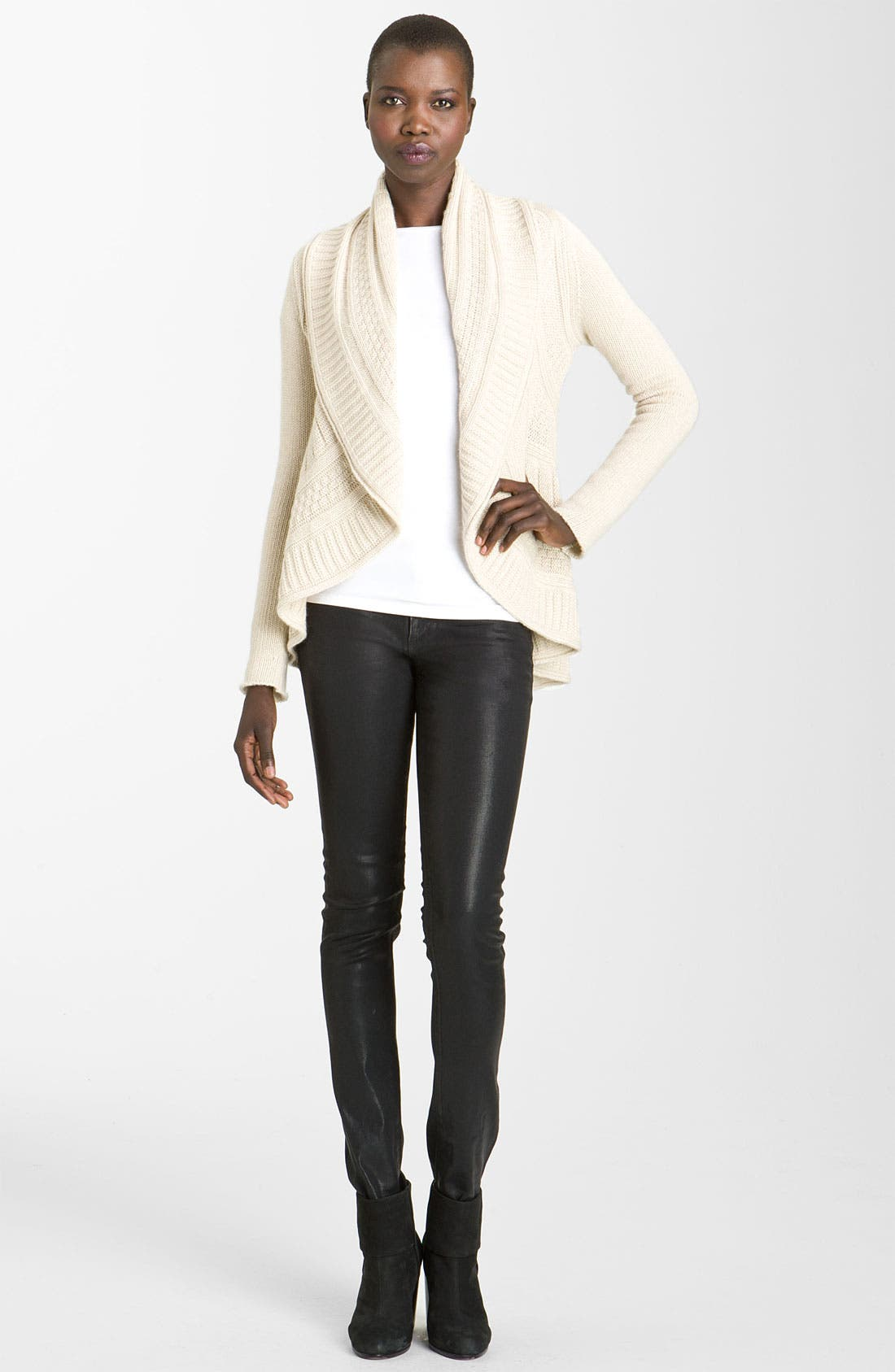Alternate Image 2  - autumn cashmere Cable Knit Cardigan