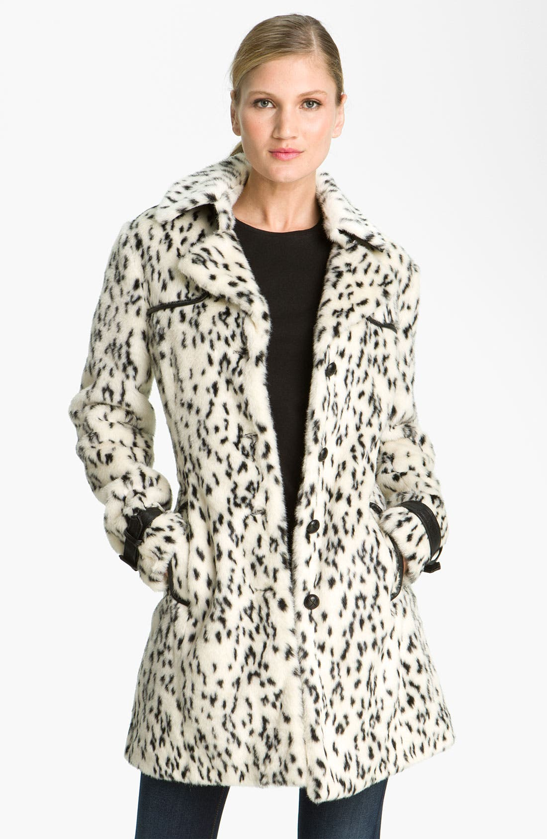 Alternate Image 3  - Via Spiga Spotted Faux Fur Coat