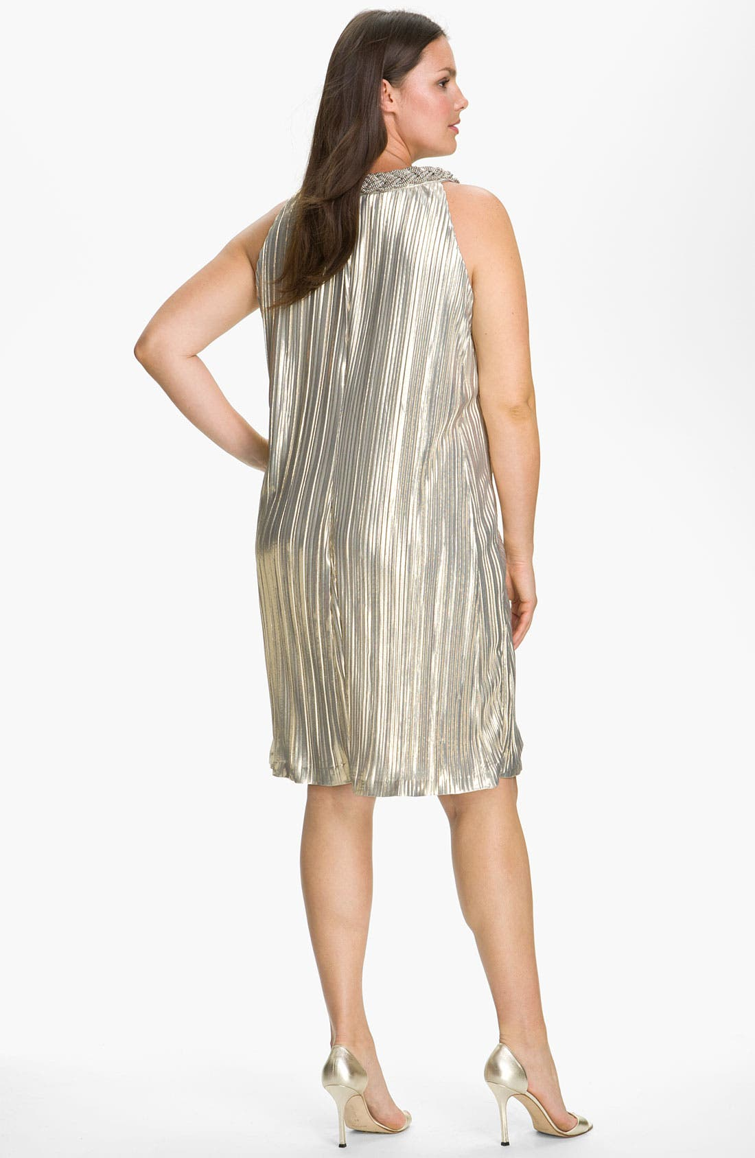 Alternate Image 2  - Donna Ricco 'Shimmer & Shine' Dress (Plus)