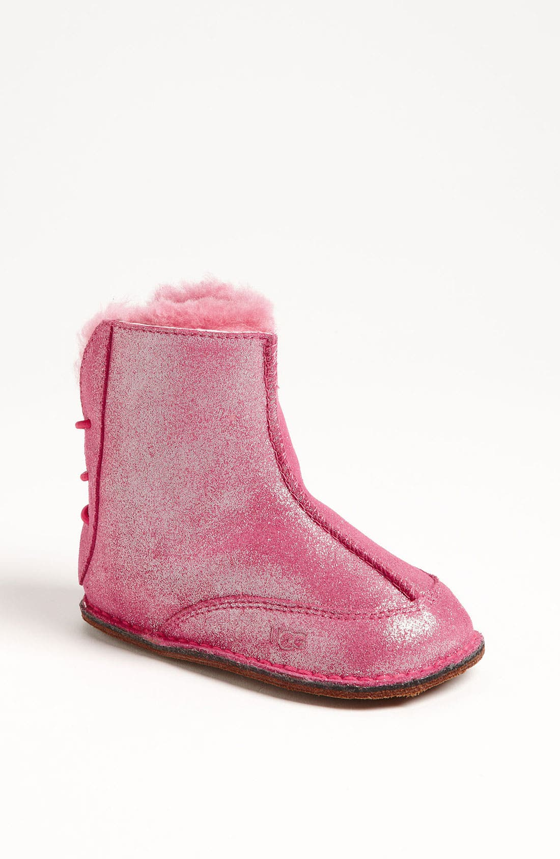 Alternate Image 1 Selected - UGG® Australia 'Boo' Glitter Bootie (Baby & Walker)