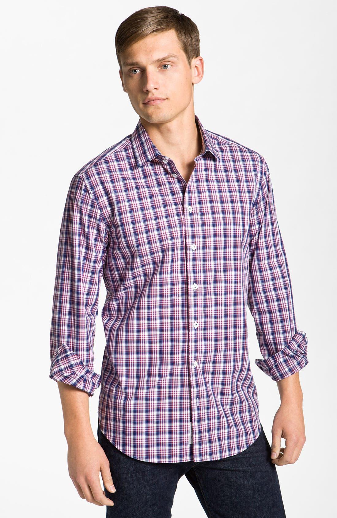 Alternate Image 1 Selected - rag & bone 'Charles' Plaid Woven Shirt