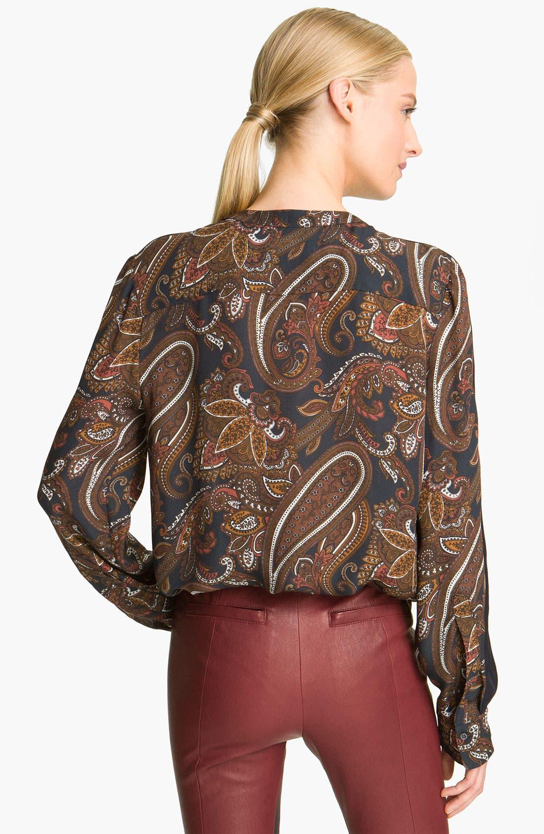 Alternate Image 2  - A.L.C. 'Carly' Paisley Print Silk Blouse