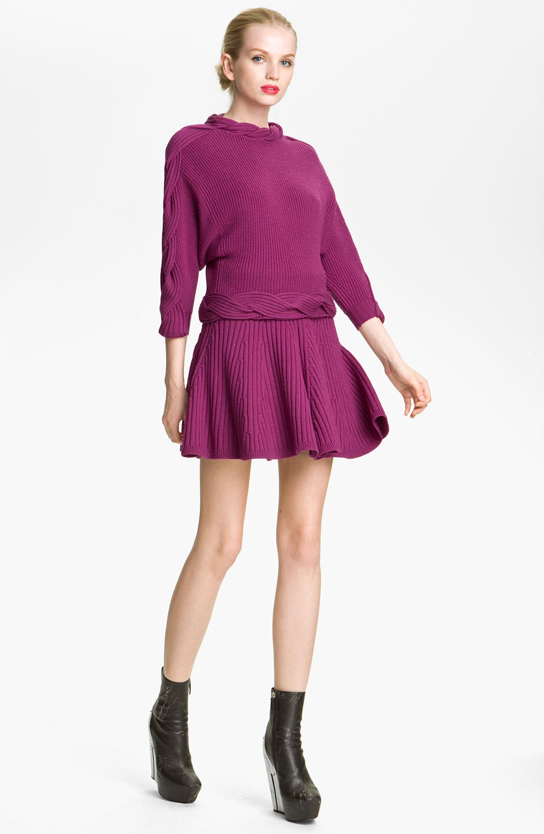 Alternate Image 1 Selected - KENZO Cable Twist Knit Wool Sweater