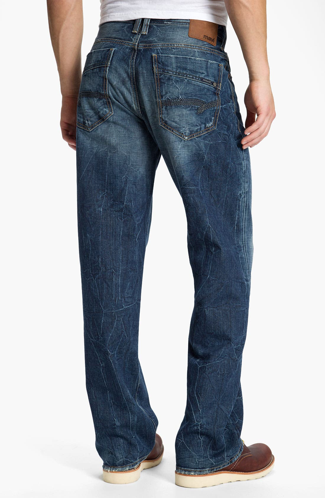 Alternate Image 1 Selected - Mavi Jeans 'Max' Relaxed Straight Leg Jeans (Deep American Cashmere)