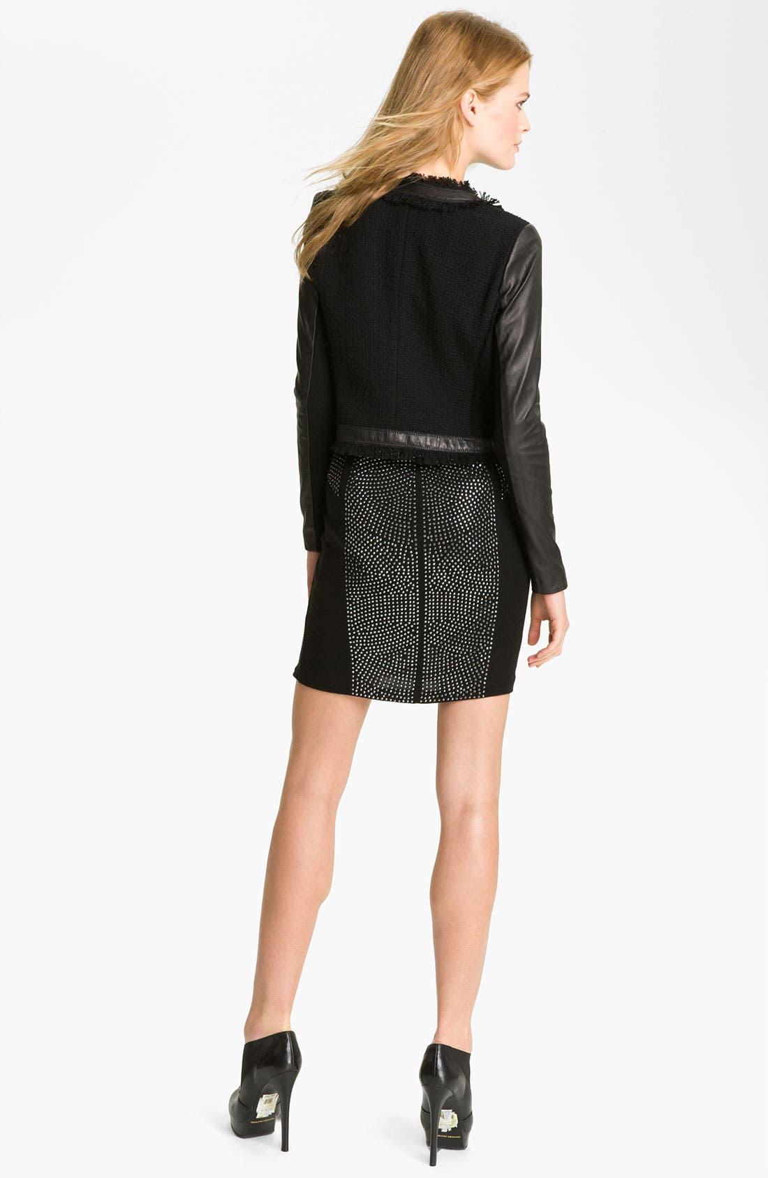 Alternate Image 5  - Rebecca Taylor Tweed & Leather Jacket
