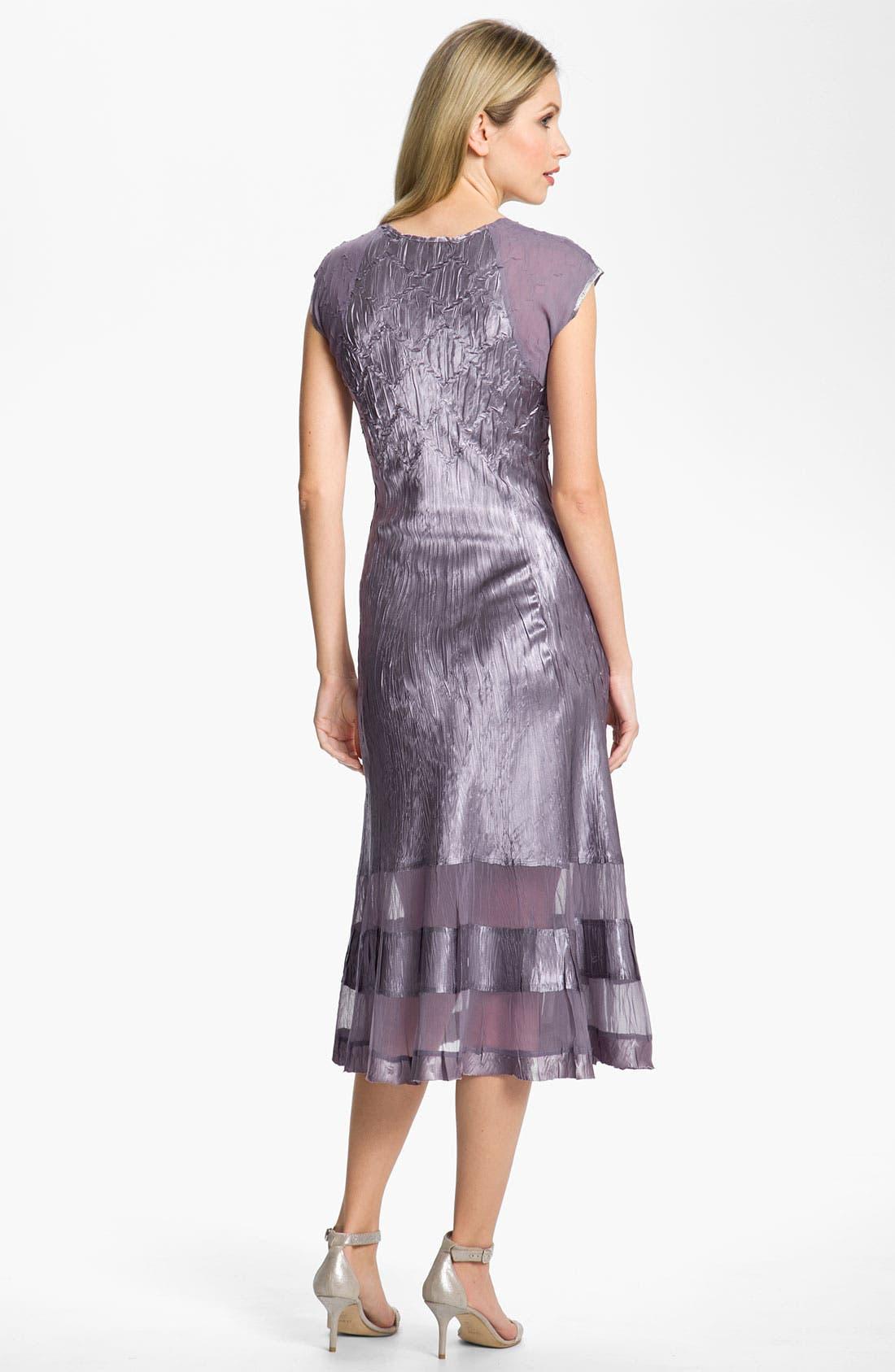 Alternate Image 3  - Komarov Sheer Panel Charmeuse Dress & Chiffon Jacket