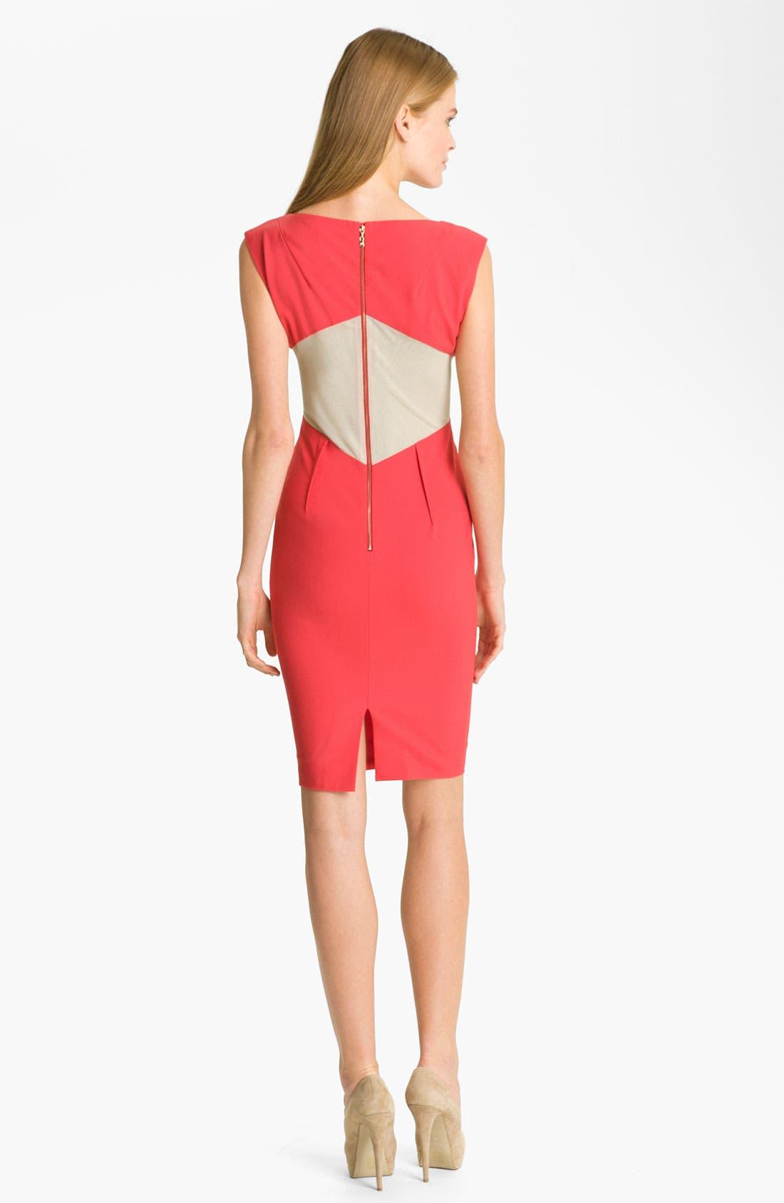 Alternate Image 2  - Rachel Roy Colorblock Tropical Wool Sheath Dress