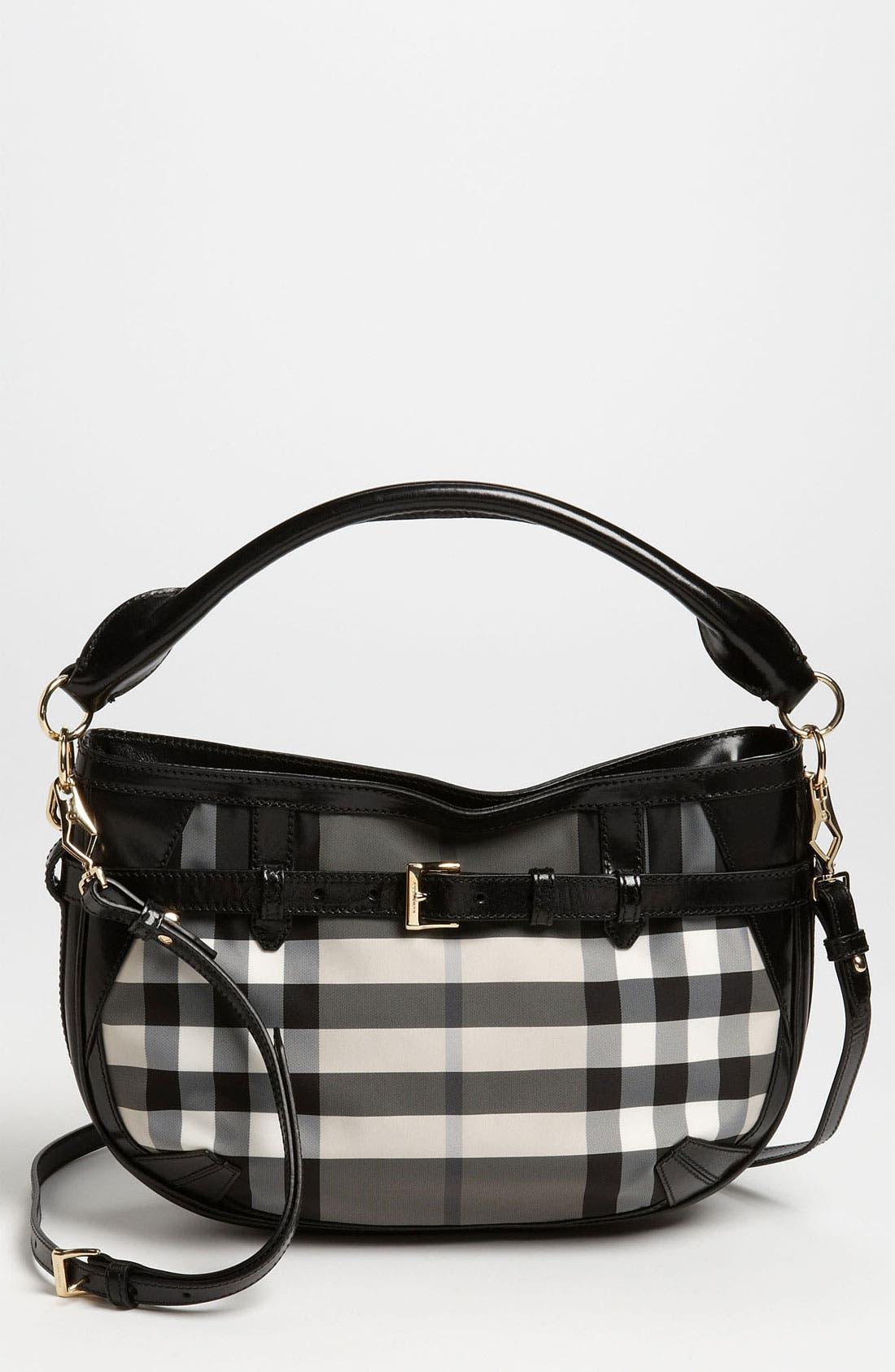 Main Image - Burberry Prorsum 'Charcoal Check' Crossbody Bag