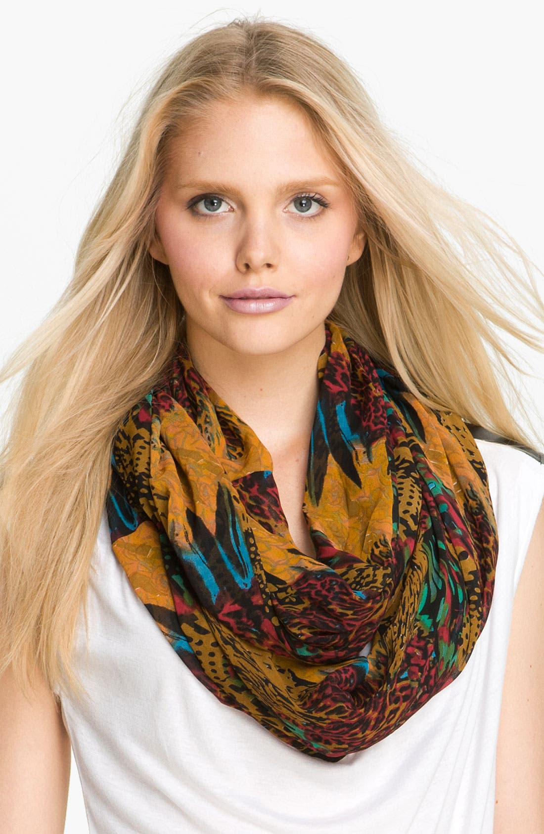 Main Image - Collection XIIX 'Swirling Animal' Infinity Scarf