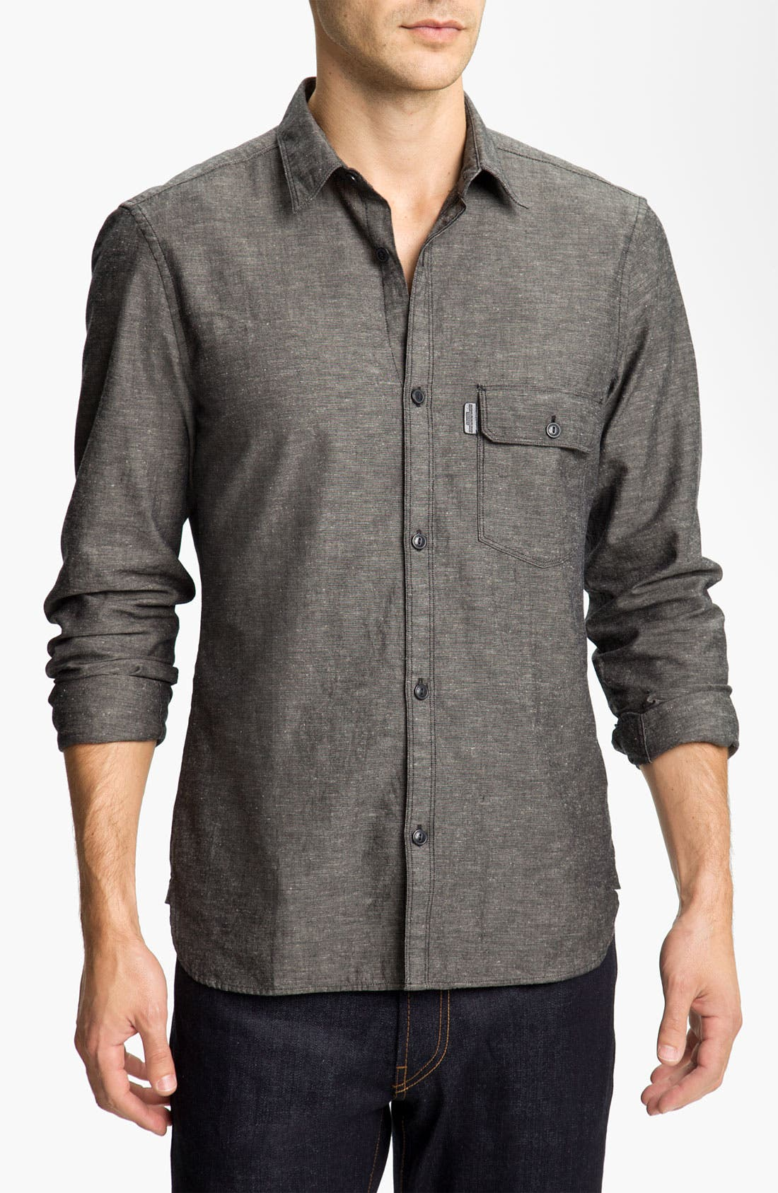 Alternate Image 1 Selected - Burberry Brit Trim Fit Sport Shirt