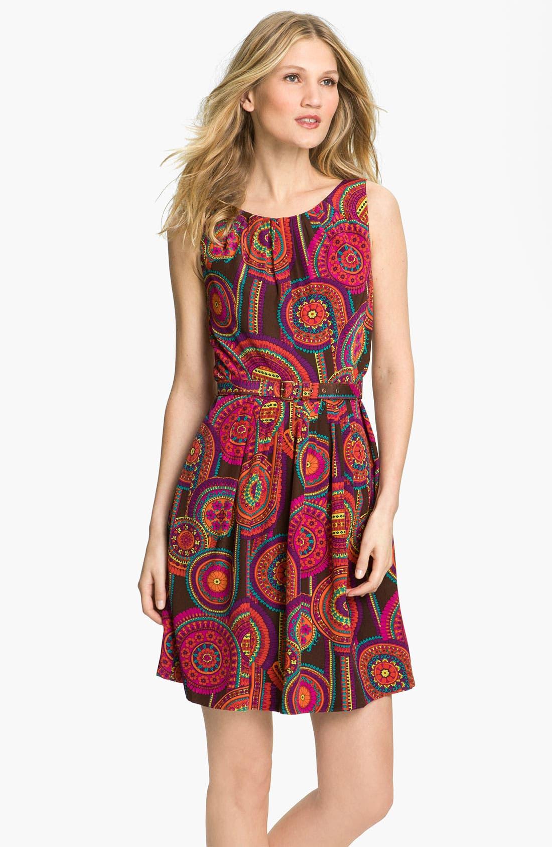 Alternate Image 1 Selected - Trina Turk 'Millicent 2' Silk Fit & Flare Dress