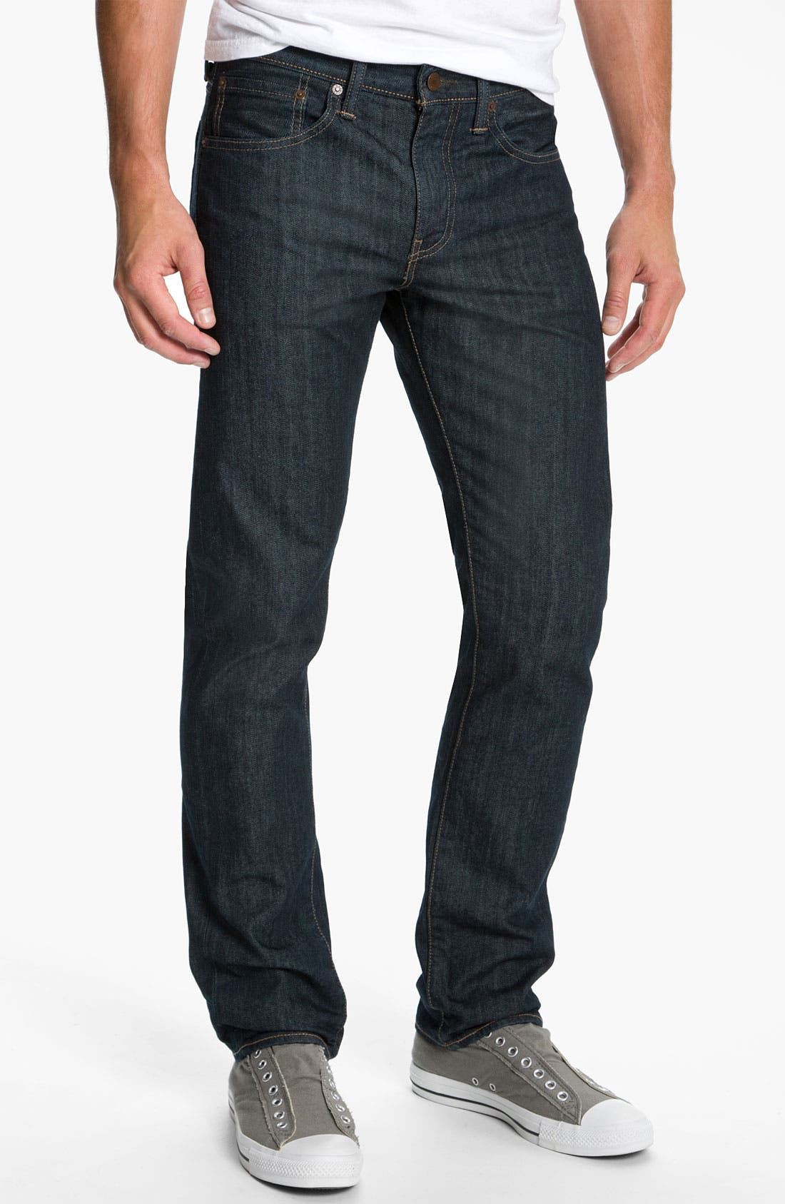 Alternate Image 2  - Levi's® '513™' Slim Straight Leg Jeans (Rumpled Rigid)