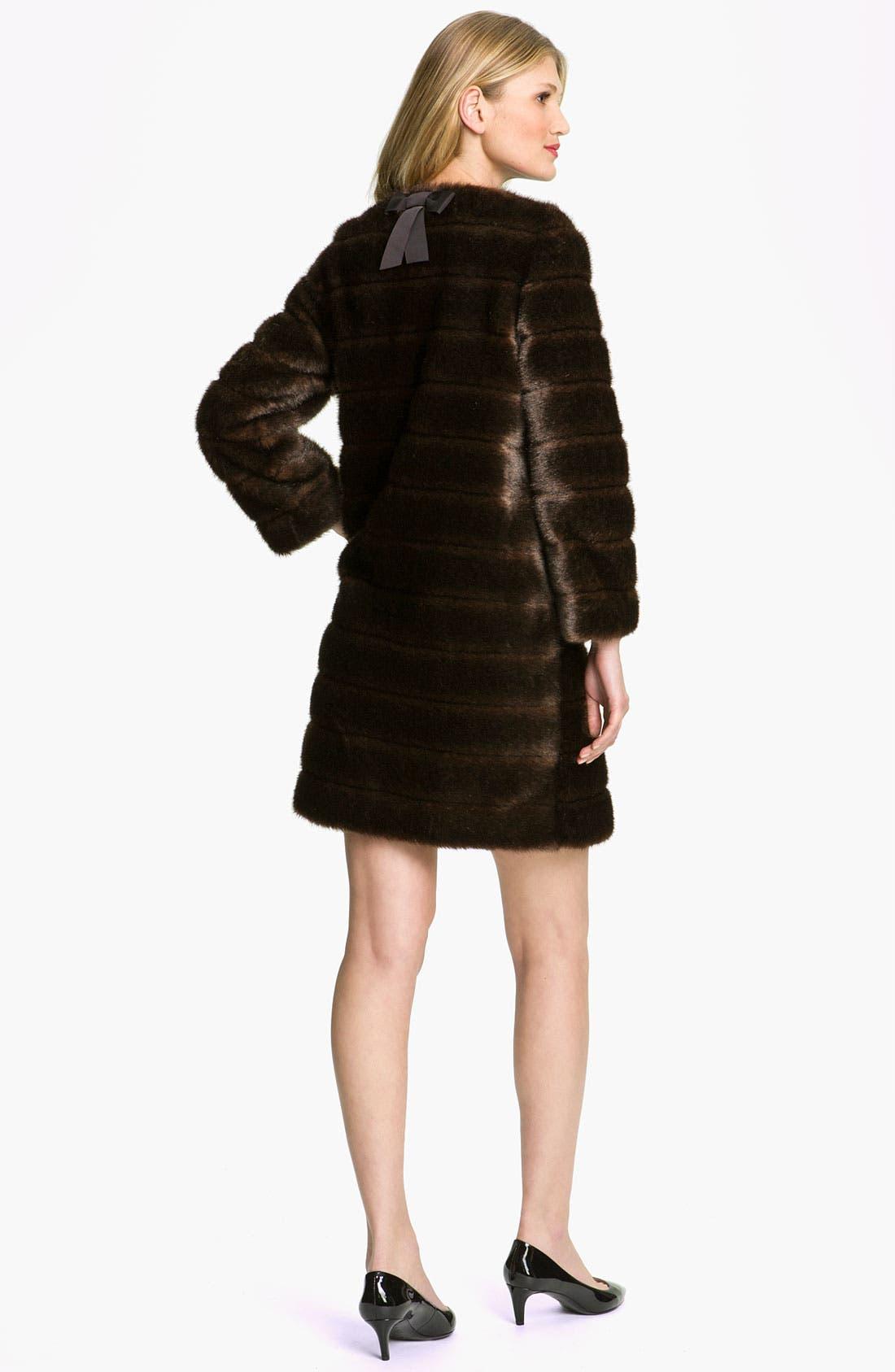 Alternate Image 2  - kate spade new york 'rossalyn' faux fur coat