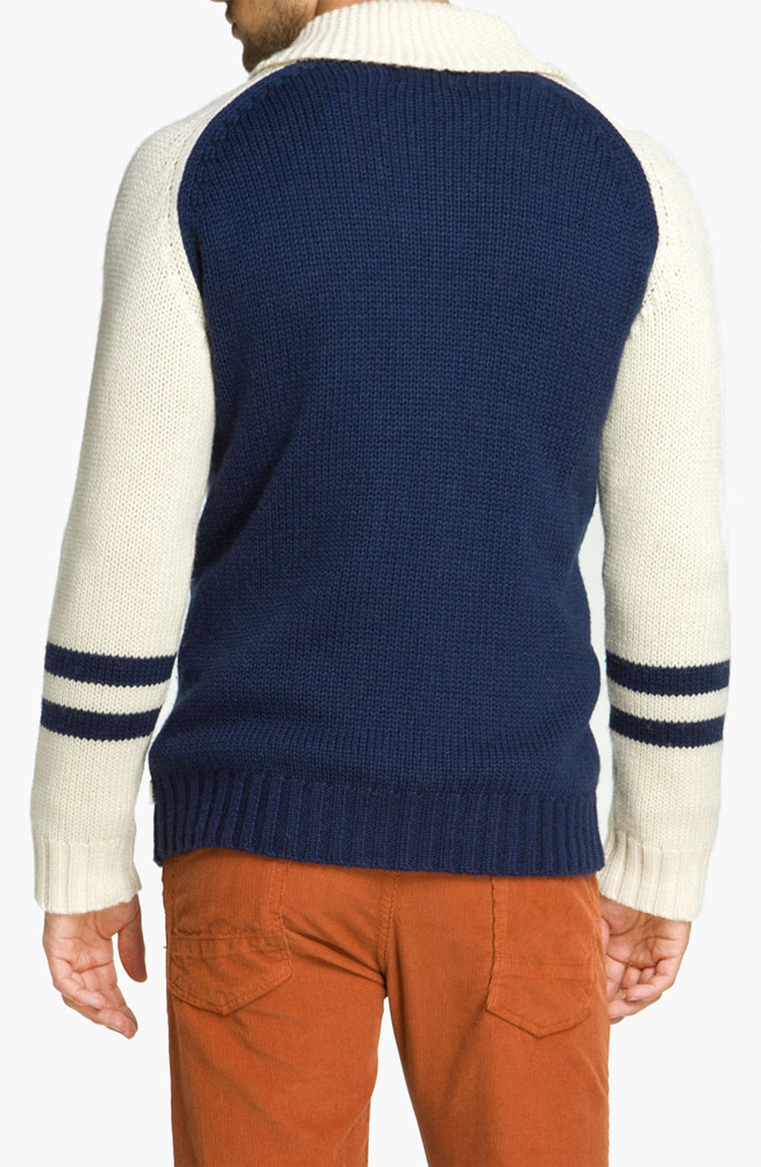 Alternate Image 2  - Deus Ex Machina 'Skulls' Shawl Collar Zip Sweater